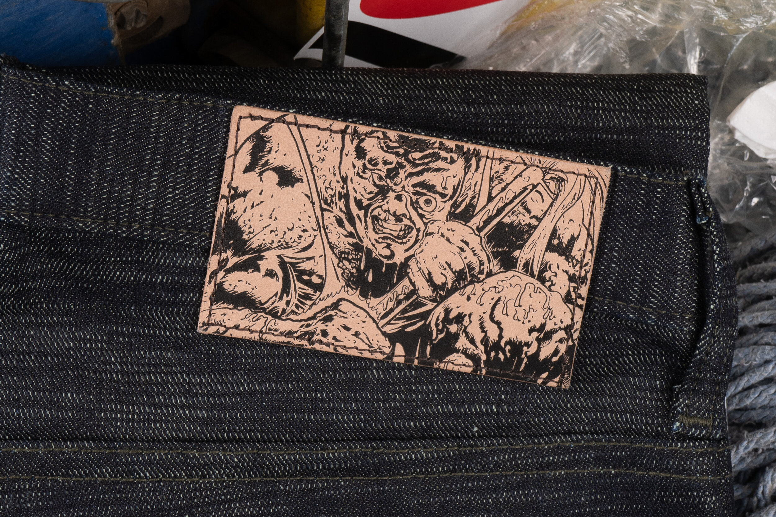 The Toxic Avenger Denim -  Leather Patch