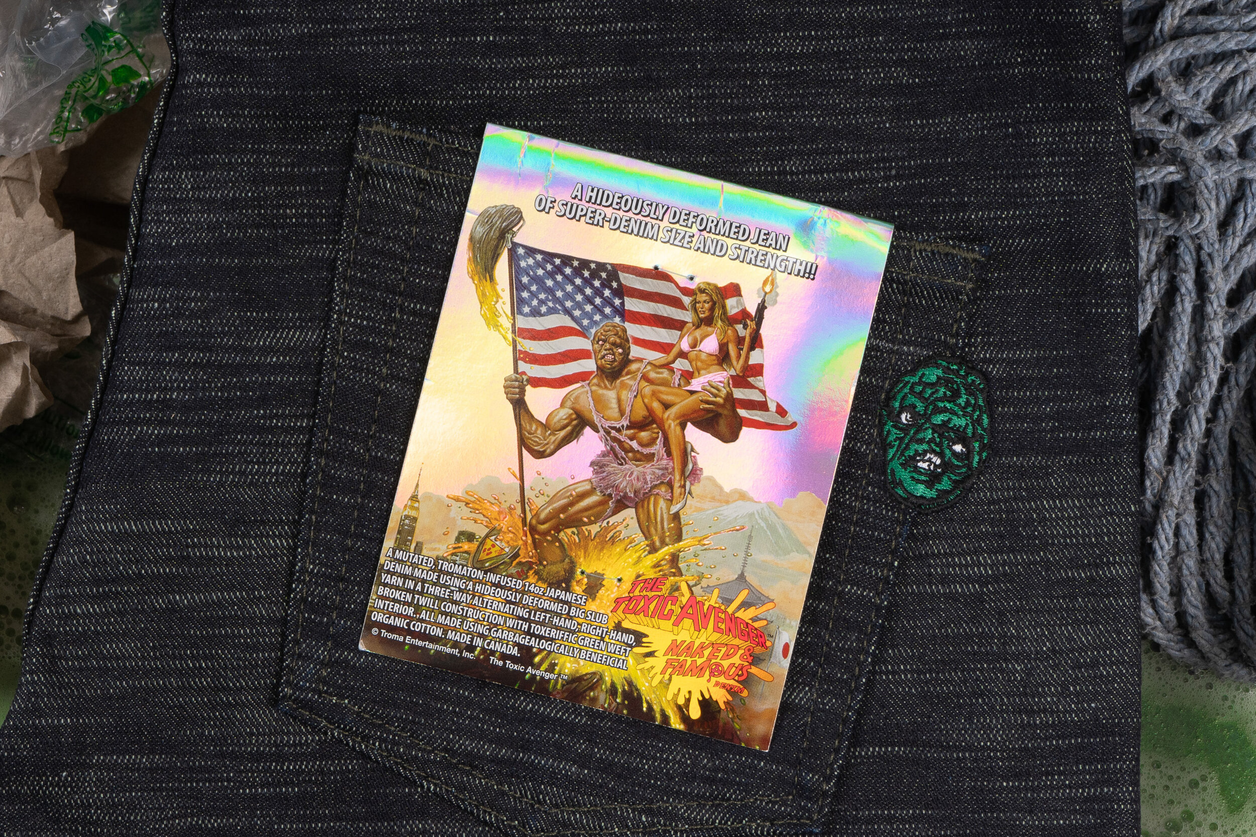 The Toxic Avenger Denim - Pocket Flasher