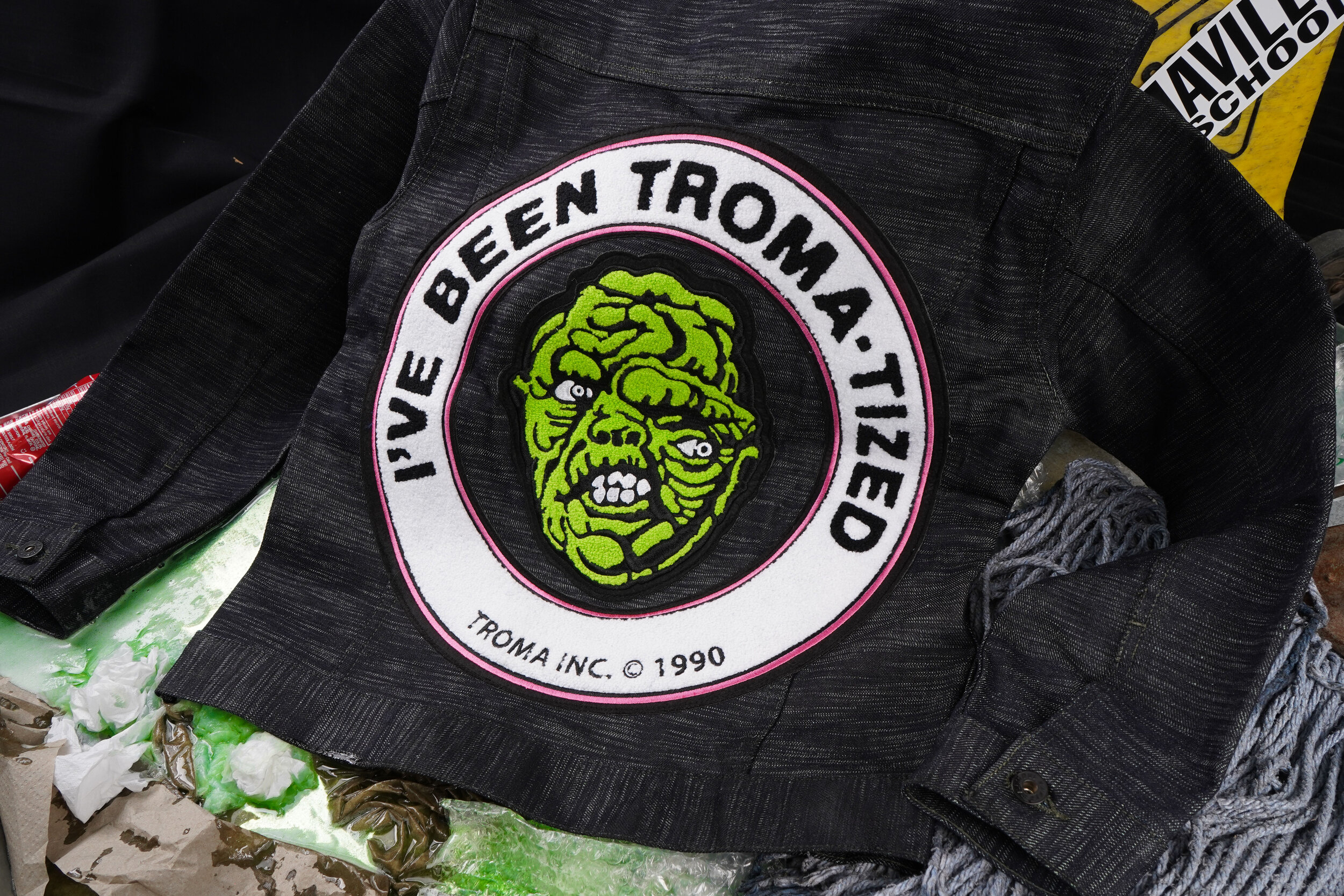 The Toxic Avenger Denim -  Denim Jacket Back Embroidery