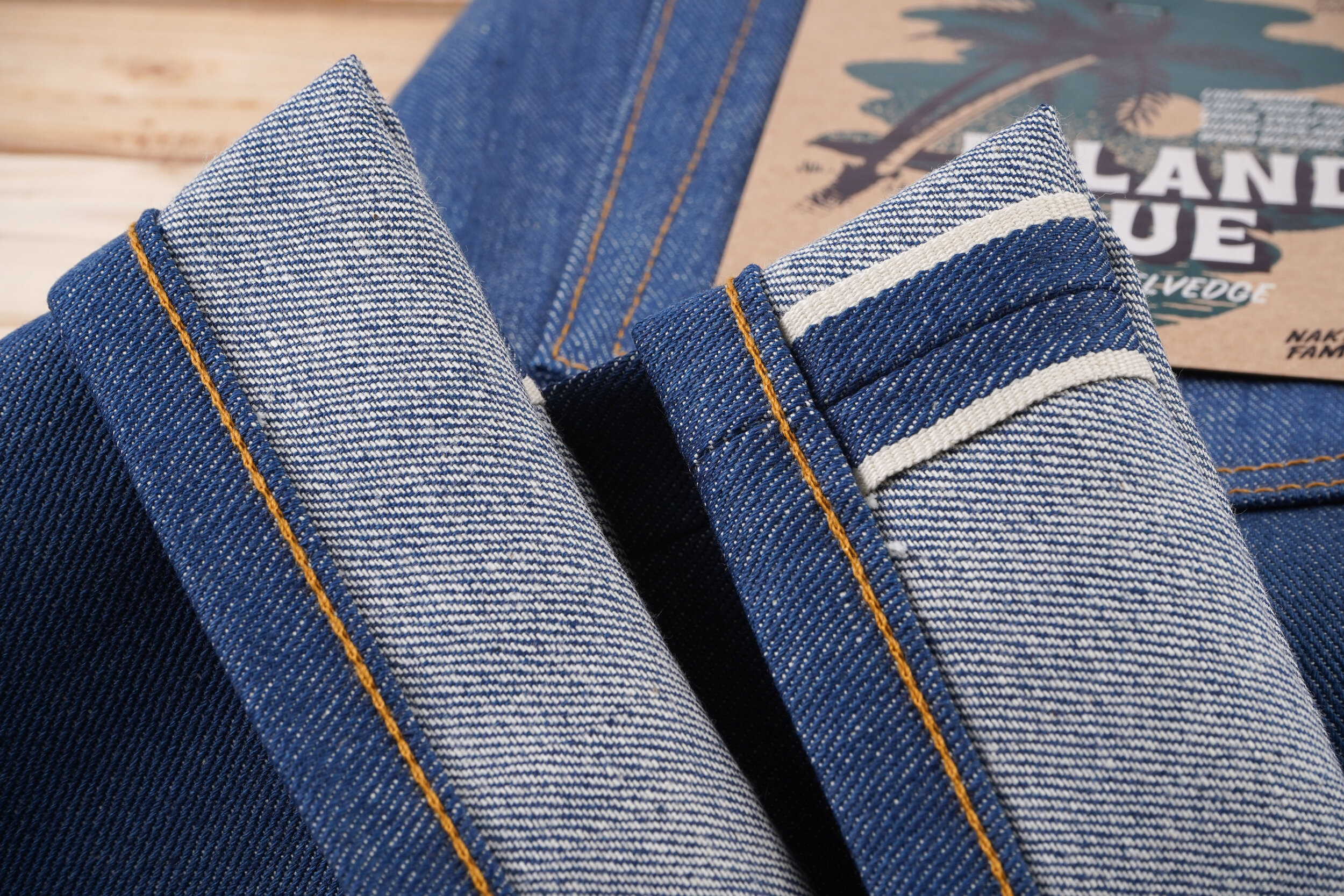 Island Blue Stretch Selvedge - Selvedge ID
