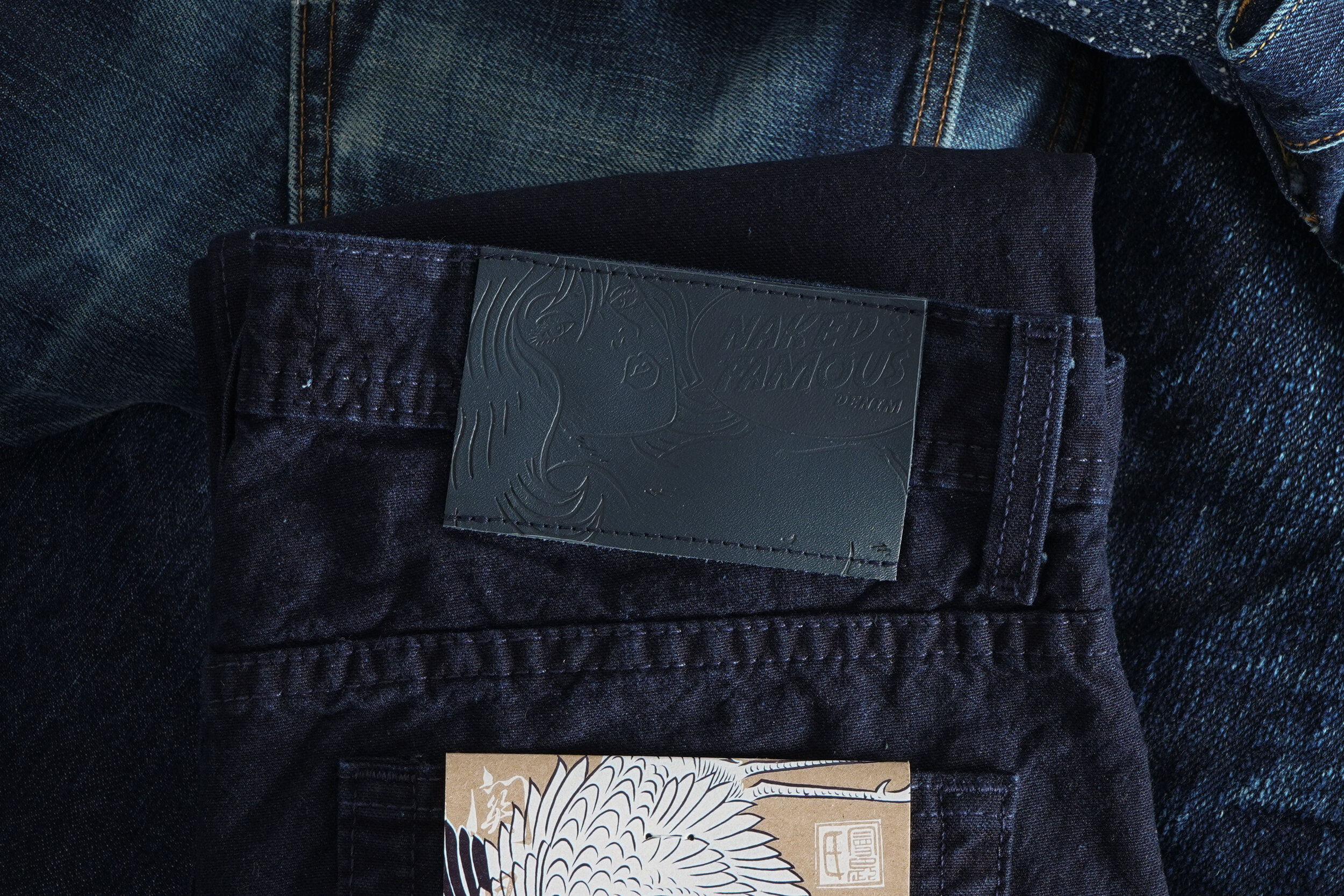 Indigo Tradition Canvas - Leather Patch