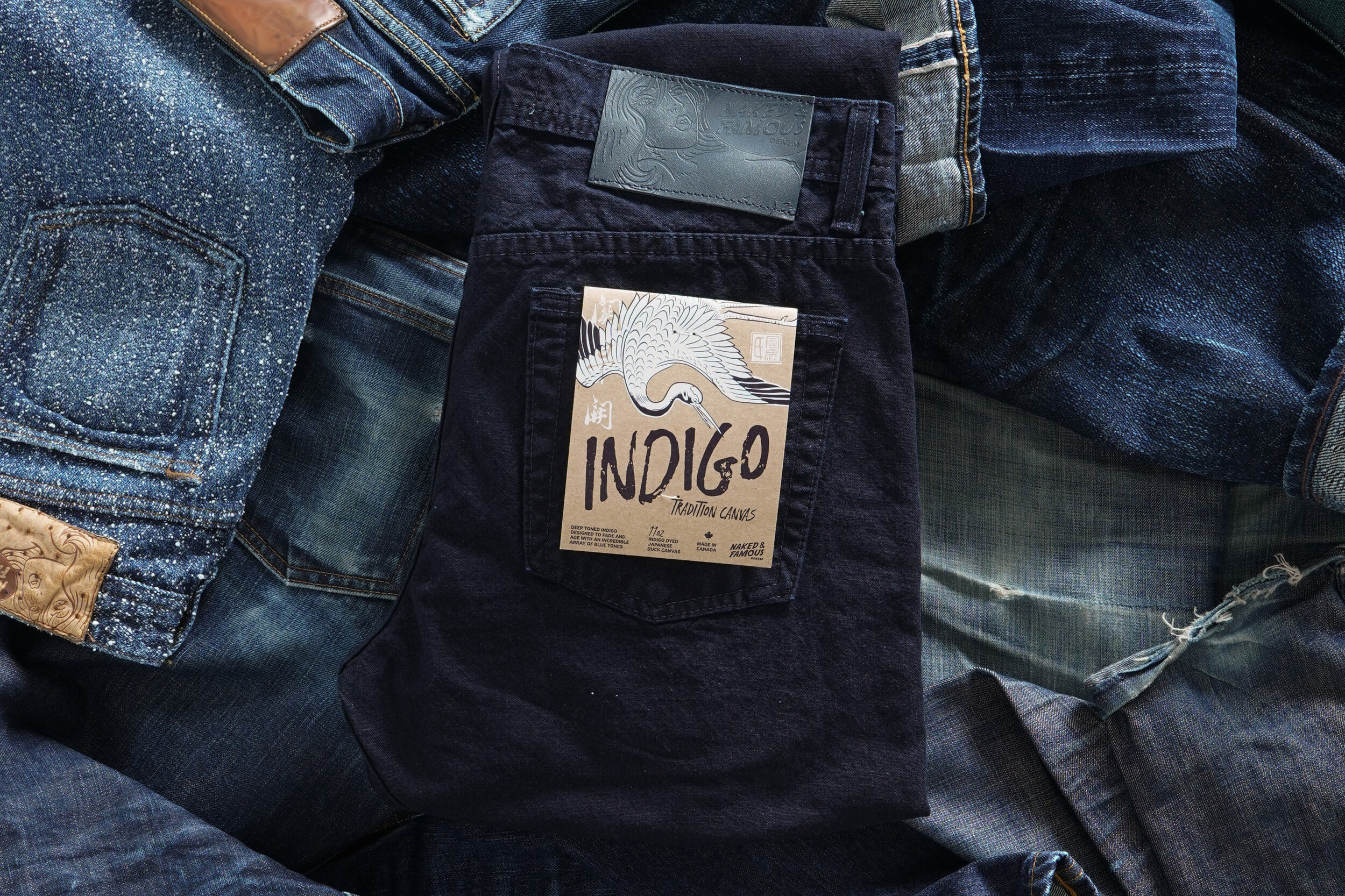 Indigo Tradition Canvas - Folded Flat
