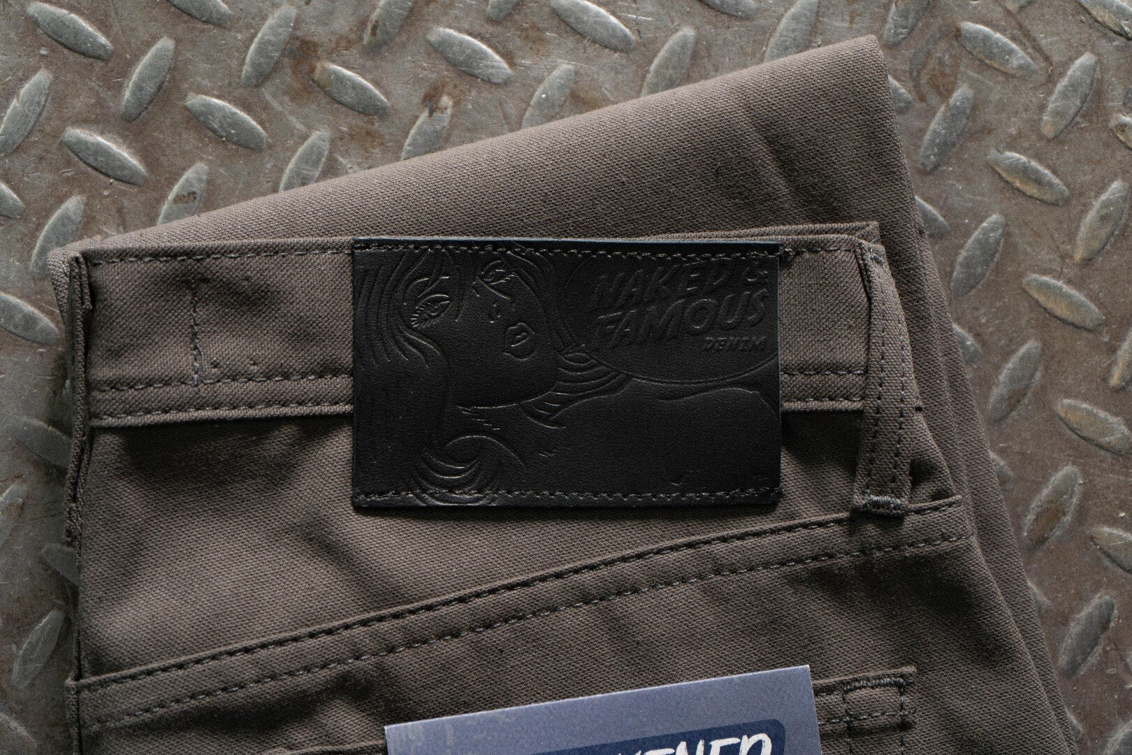 Blackened Steel Duck Selvedge - Leather Patch