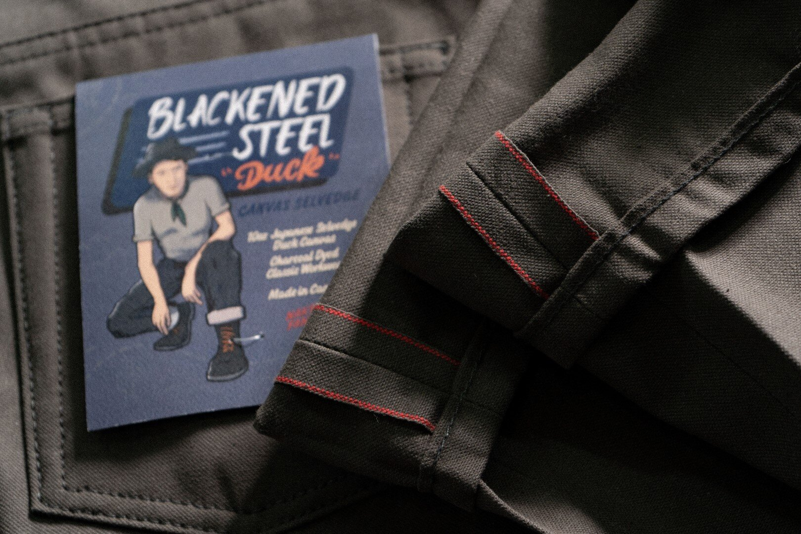 Blackened Steel Duck Selvedge - Selvedge ID