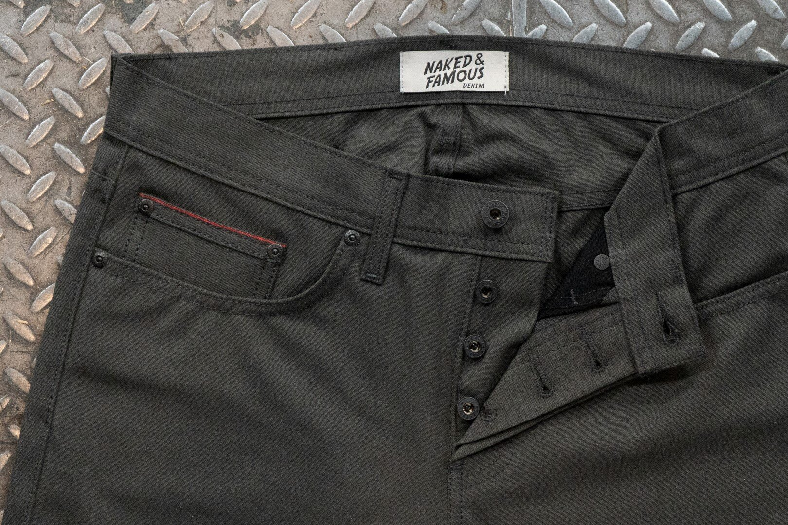 Blackened Steel Duck Selvedge - Hardware