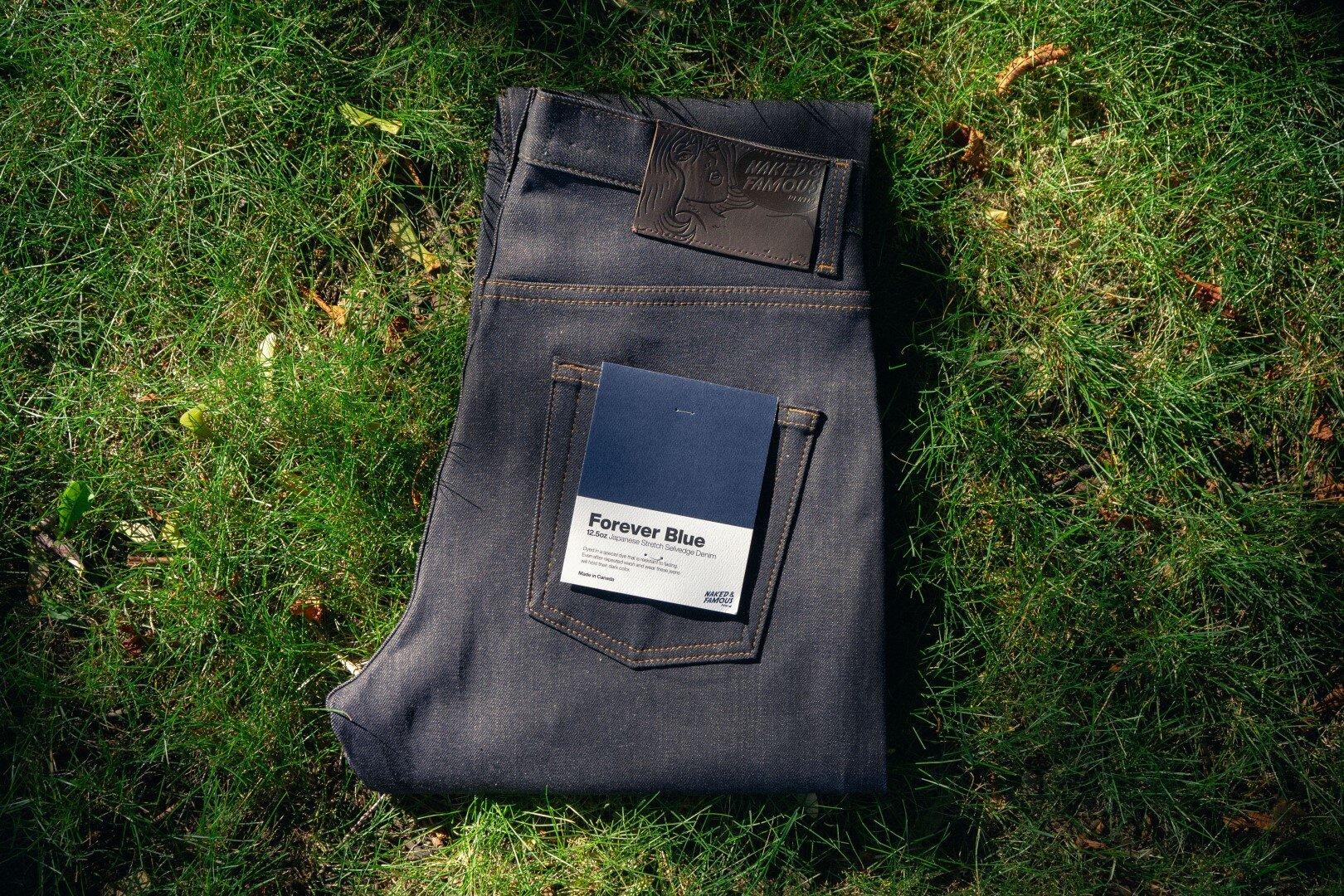 Forever Blue Stretch Selvedge - Folded Flat