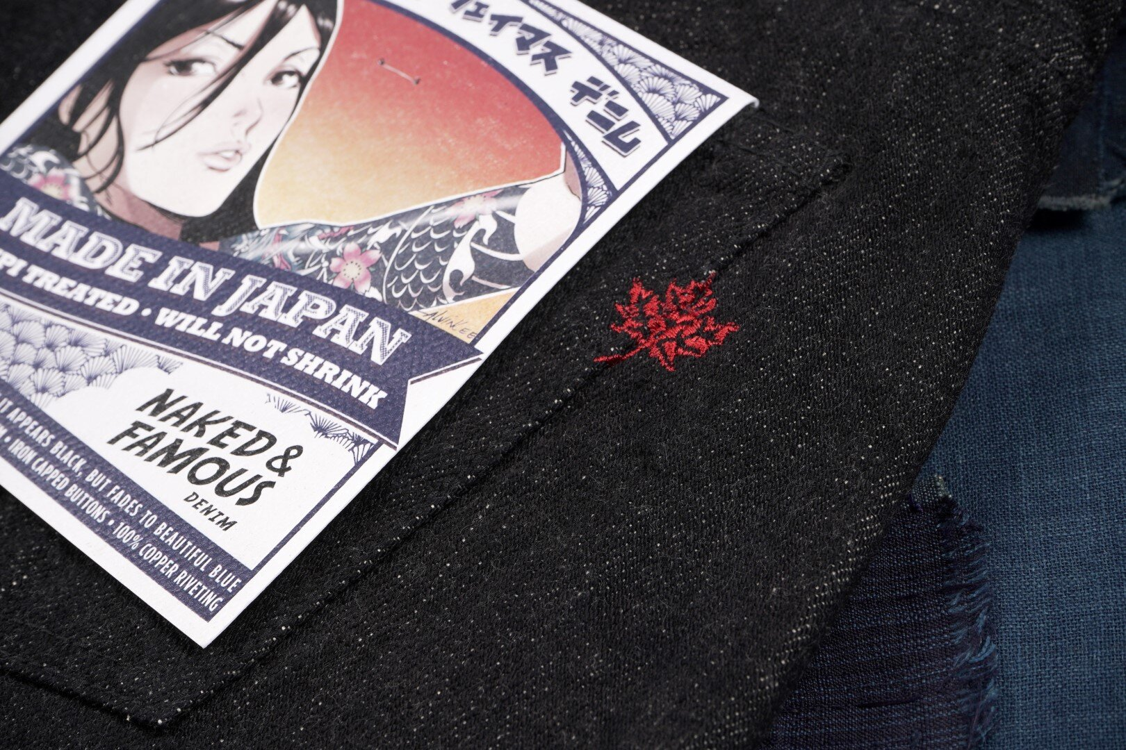 MIJ7 Yahan Midnight Selvedge - Embroidery