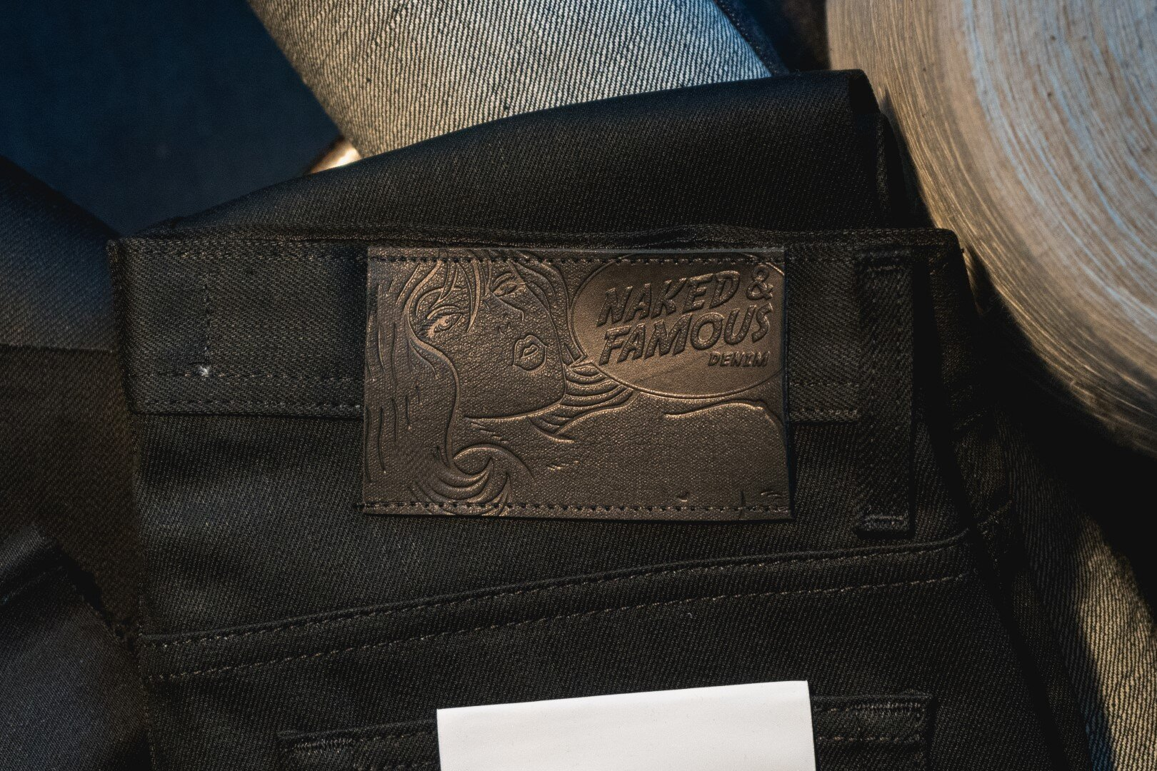 Black Cashmere - Leather Patch