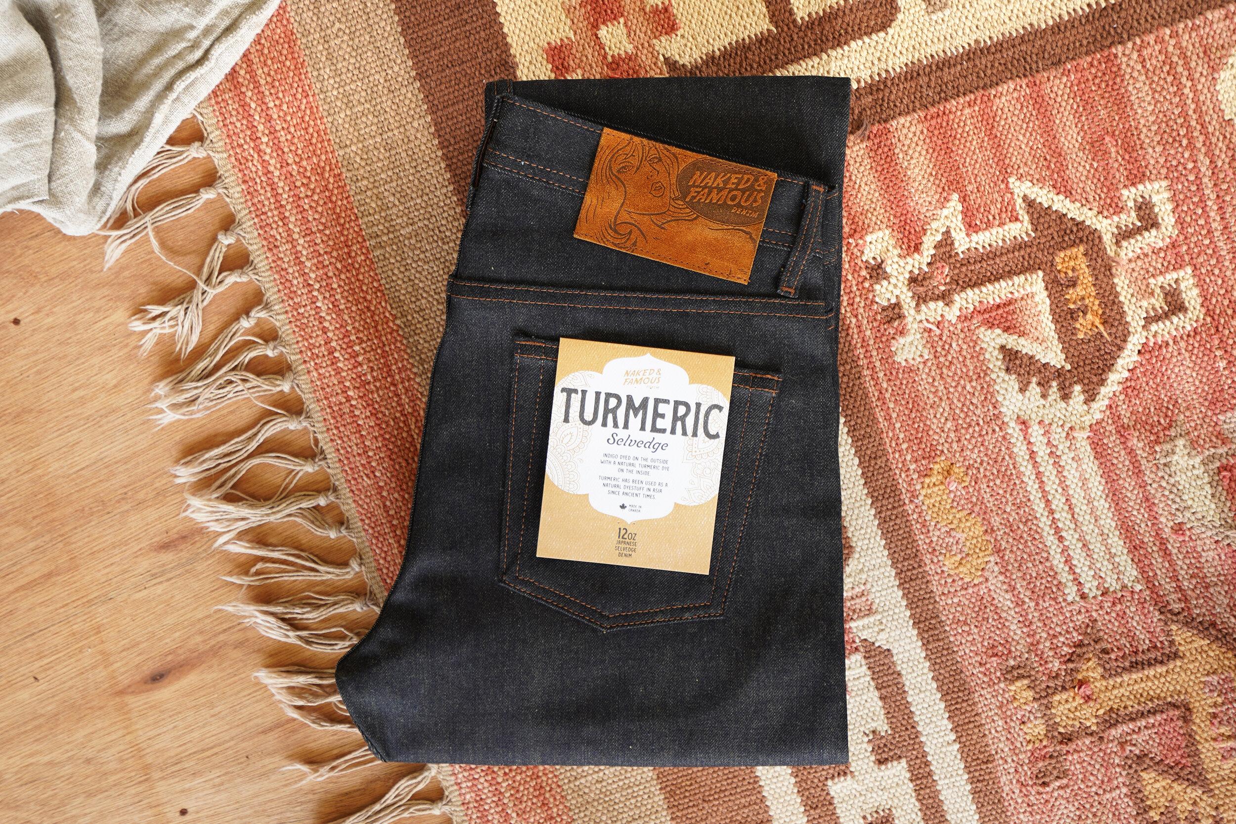 Turmeric Selvedge - Folded Flat