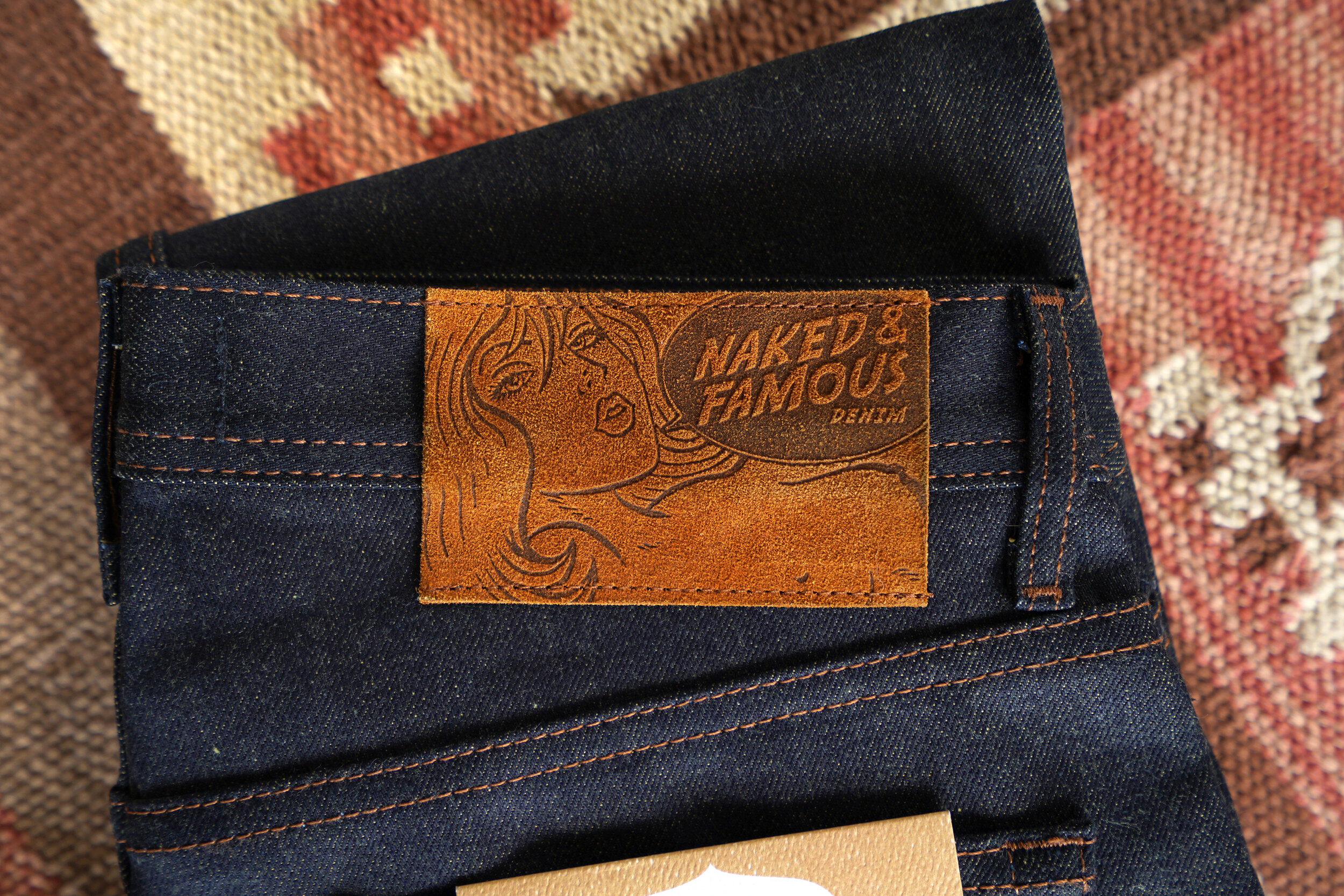 Turmeric Selvedge - Leather Patch