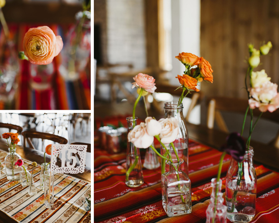 colorful wedding at Almquist Farms