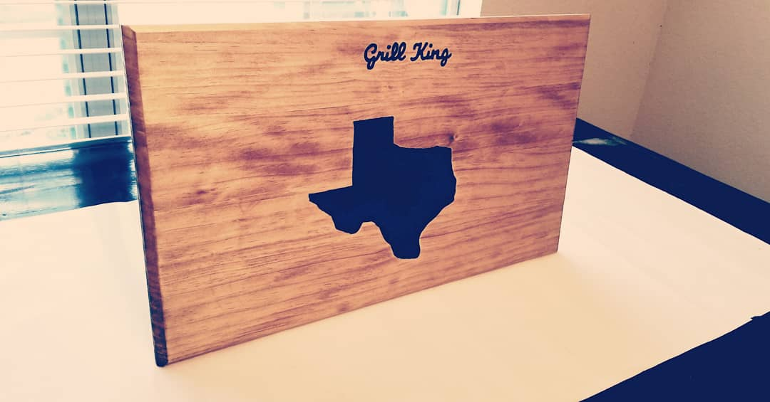 Large Texas Cutting Board with epoxy center