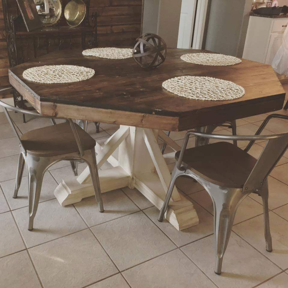 Rustic octagon table