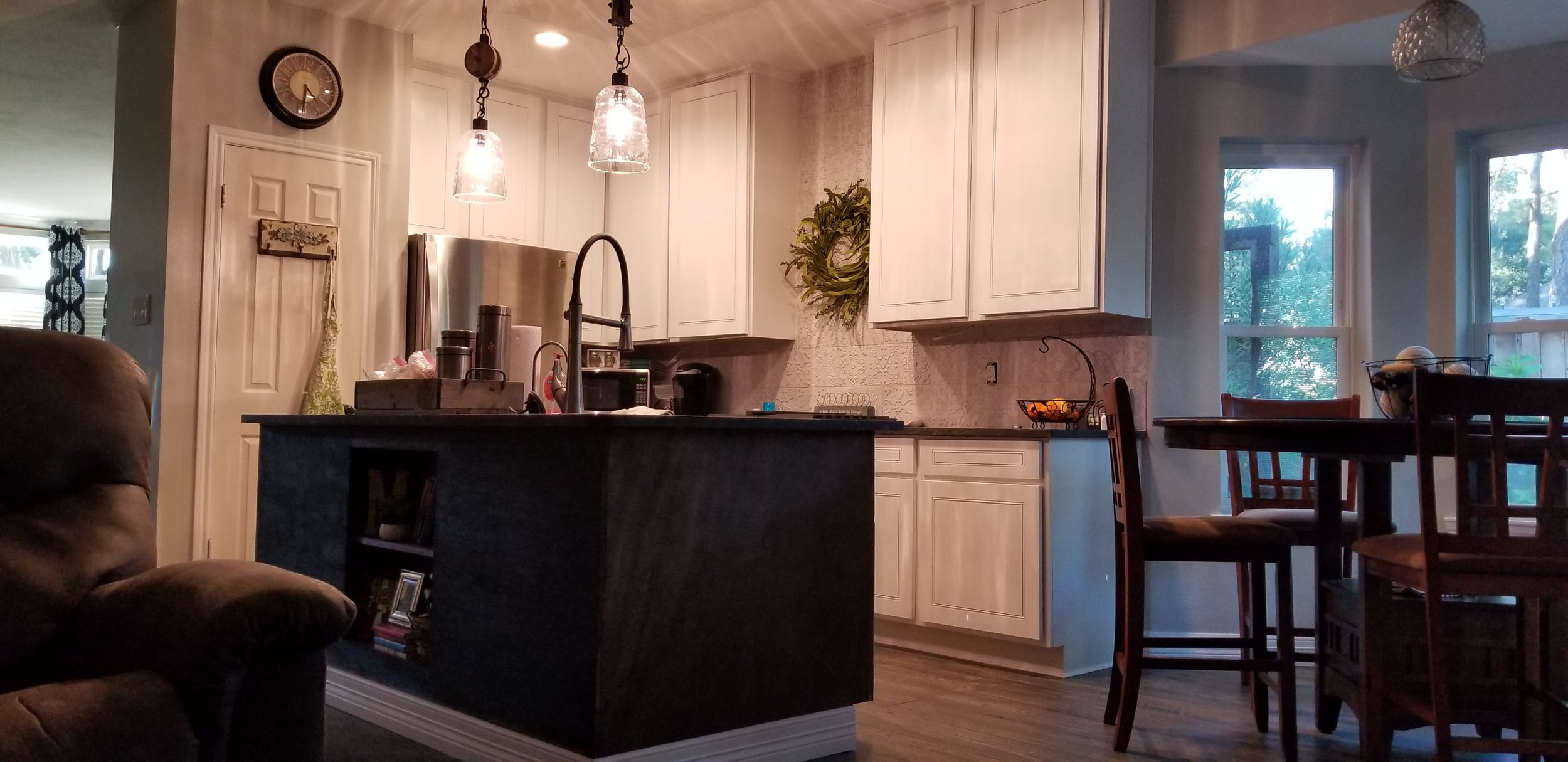 Ceiling height kitchen cabinet remodel