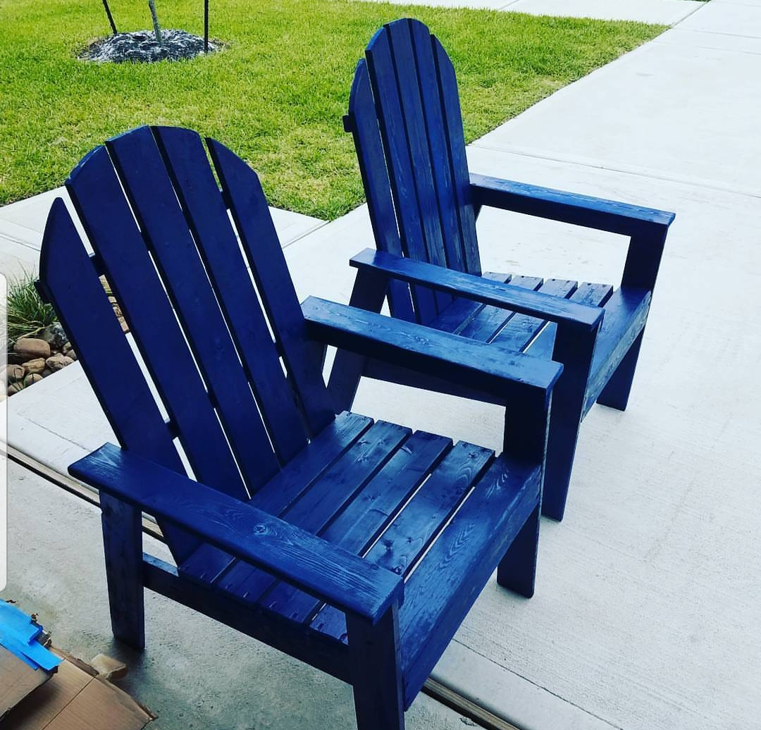 His and hers Adirondack chairs