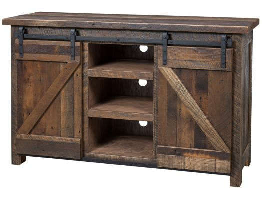 Amish Reclaimed Barn Wood TV Stand.jpg