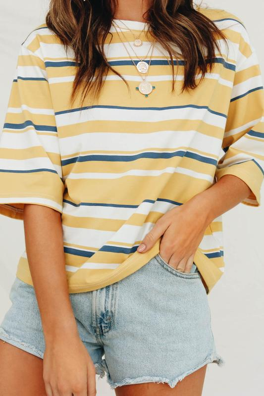 Image Via Verge Girl   https://www.vergegirl.com/collections/tops/products/san-francisco-culture-stripe-tee-yellow
