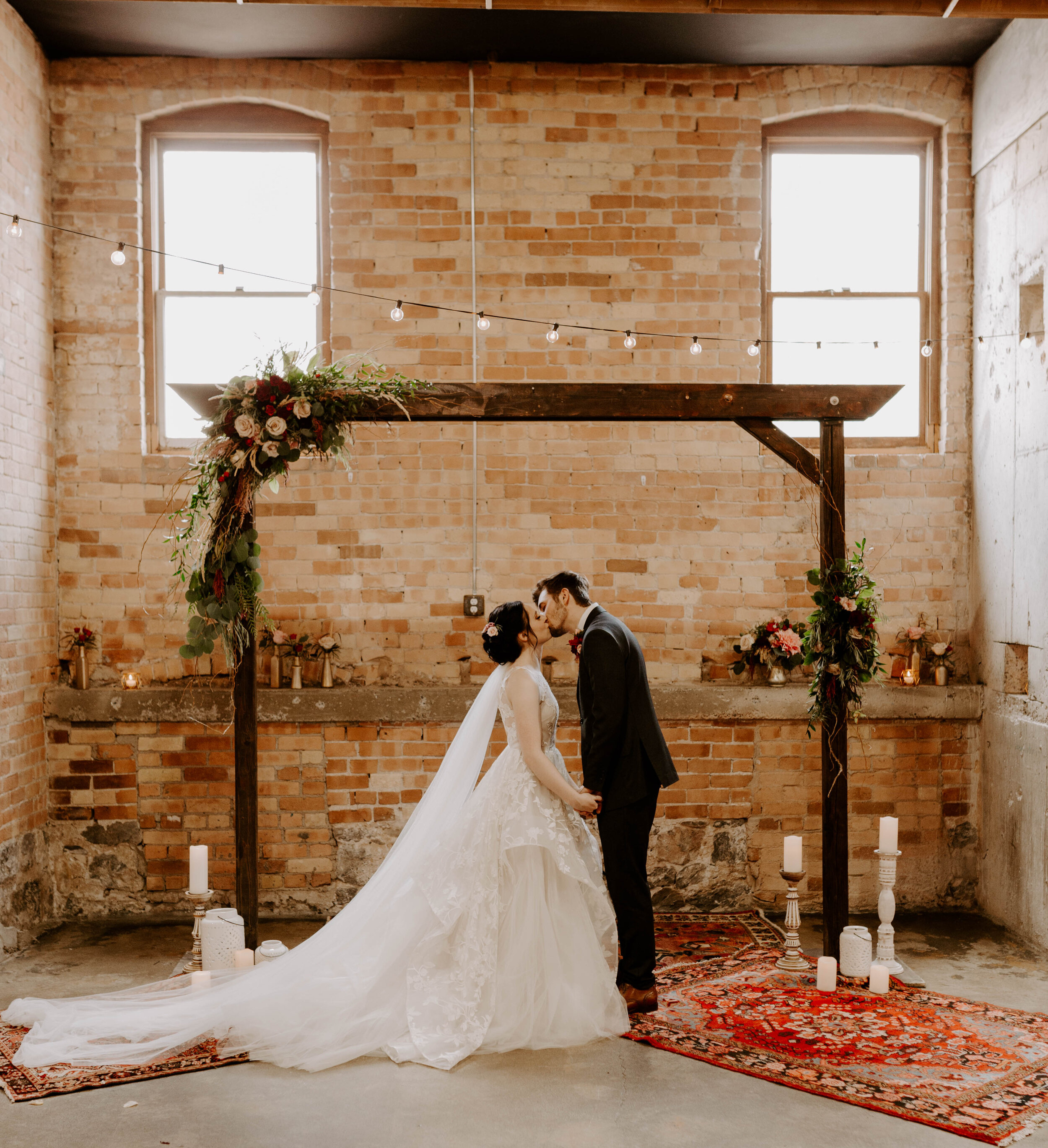 Rylee + Payton's Boho Industrial Wedding Day -