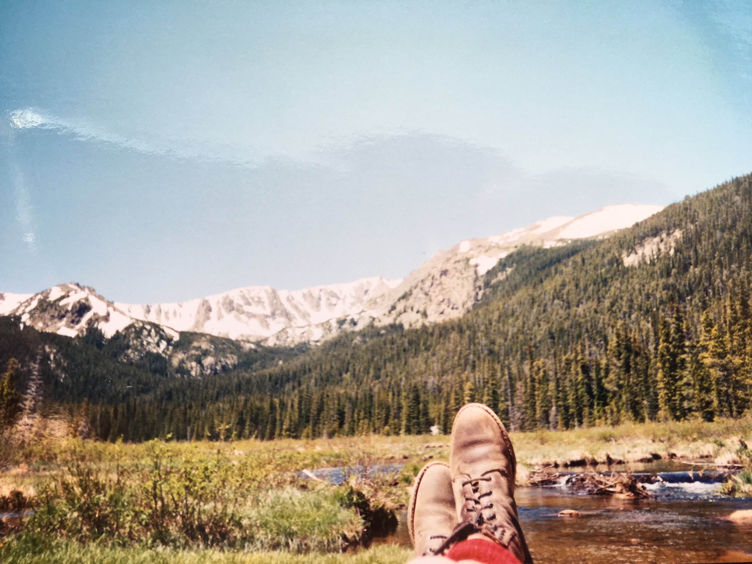 My boots at Cirque Meadows, 1998