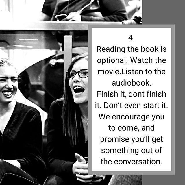 ✖️TO READ OR NOT TO READ✖️ . We say, whatever works for YOU! Day 4 of 5 reasons you should join our #novelevenings book club is simple. Choice and zero pressure. . Reading the book is optional. We encourage it, as it's been careful selected by someone in our community, however we are all to familiar with how busy we can be. . Watch the movie. Listen to the audiobook. Google the title. Get the Coles notes. Finish it, don't finish it. Heck, don't even start it. No shaming will be had. . We encourage you to come and we promise you'll always get something out of our conversations. . See you on the 29th! Sign up at novelevenings.com for first access to Saturday's ticket release! DM for more info! . 🖤 Your Novel Crew