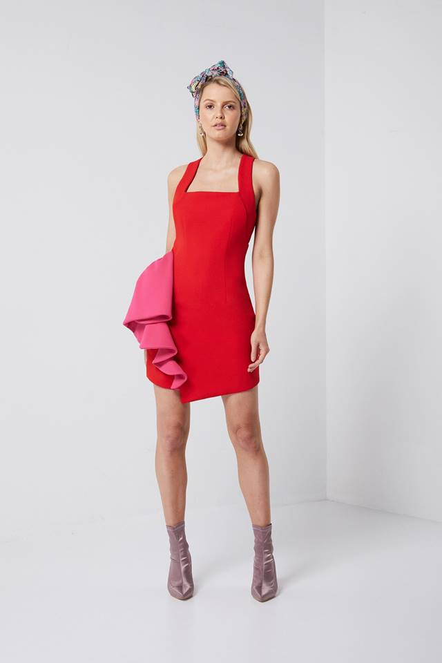 Paparazzi Pink Red Cocktail Dress Elliatt