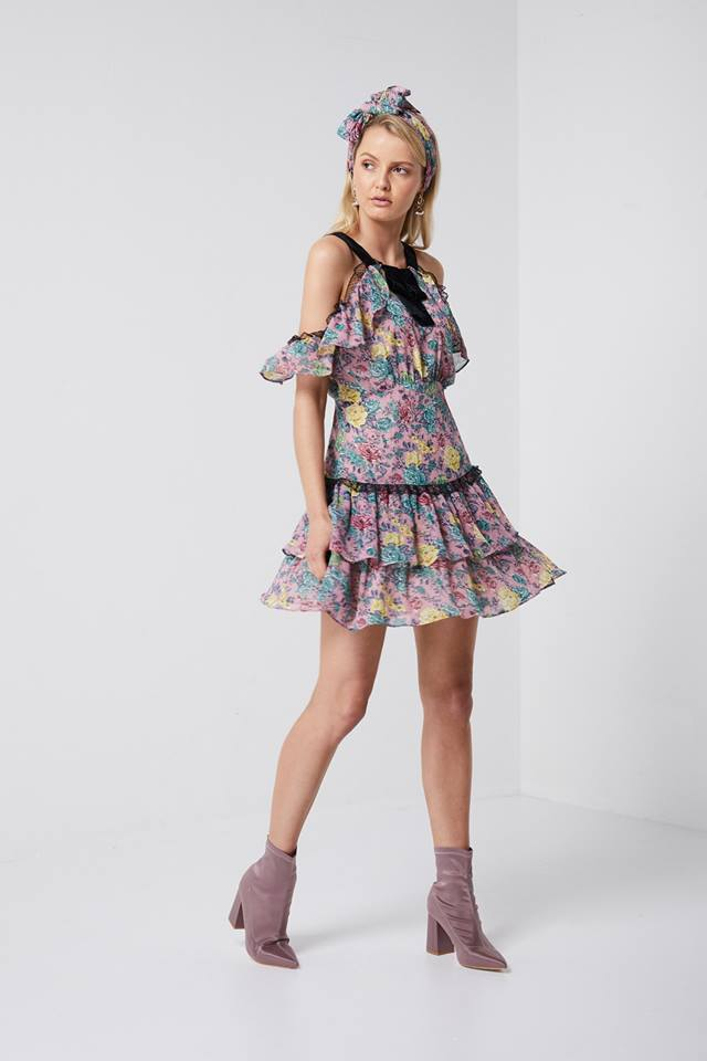 Jess Dress Floral Mini Dress Elliatt