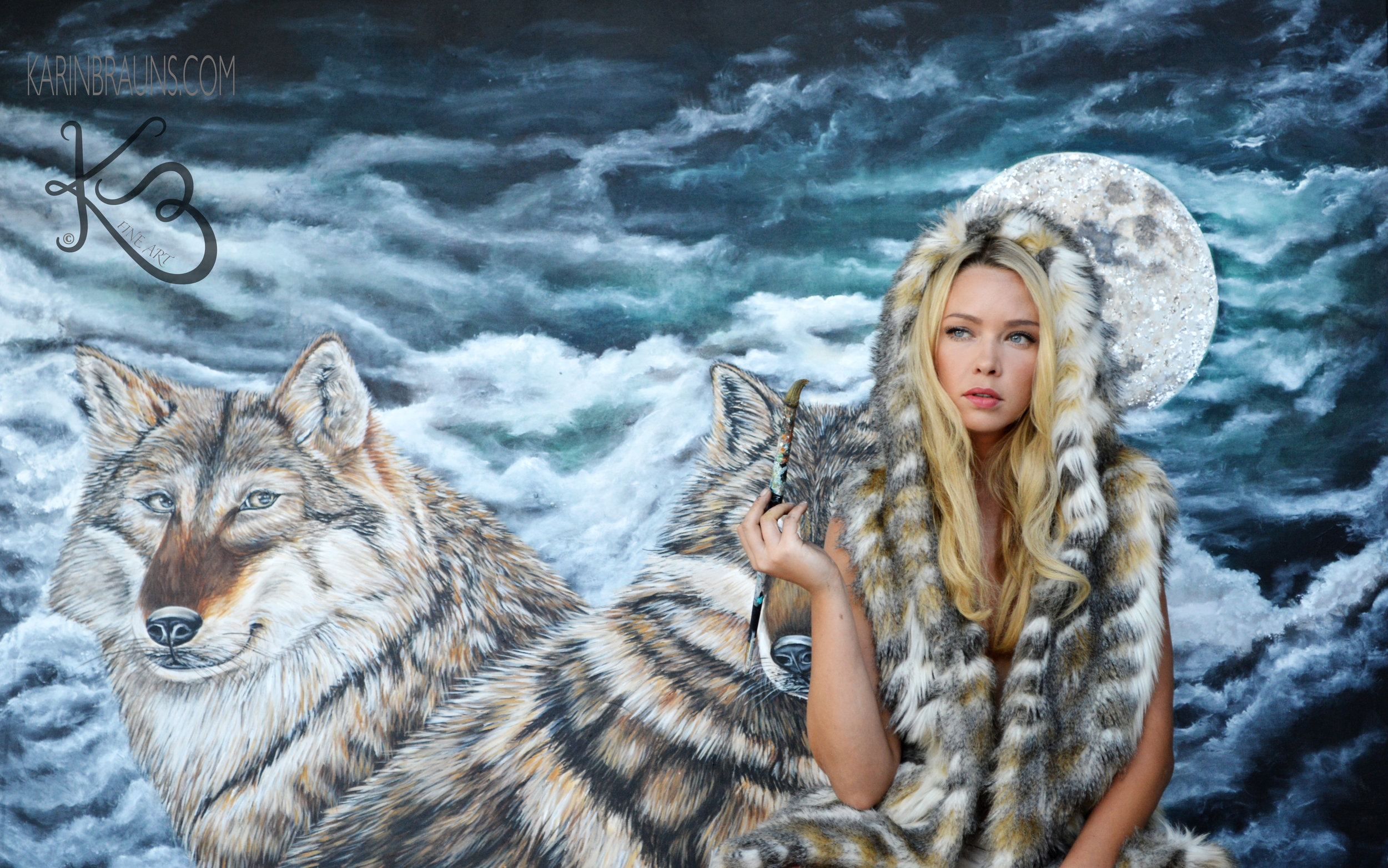 Karin with her Wolves