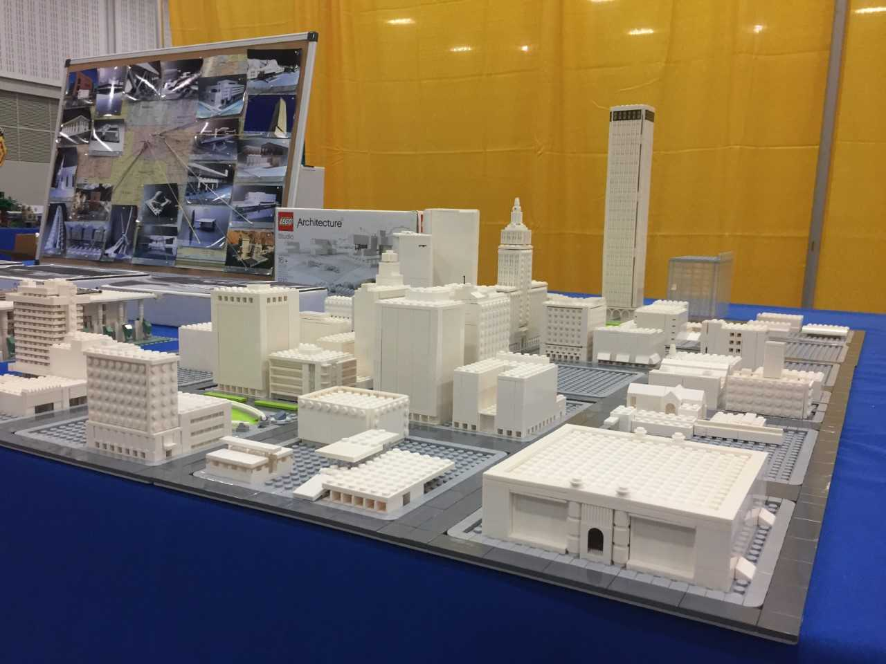 Downtown Tulsa Lego Model