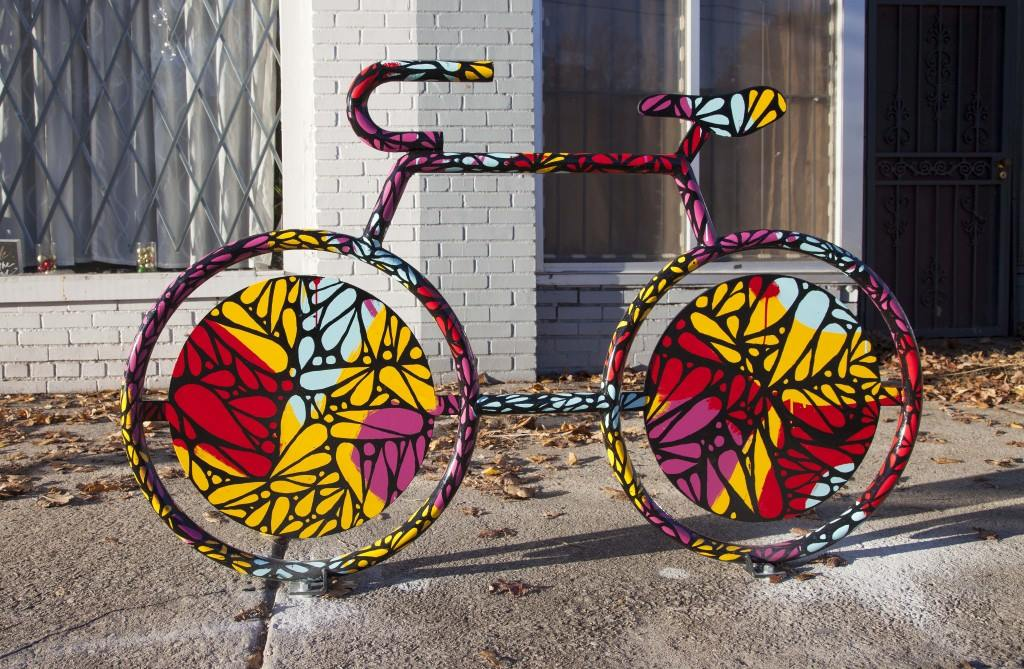 East Tulsa Bike Rack Mural