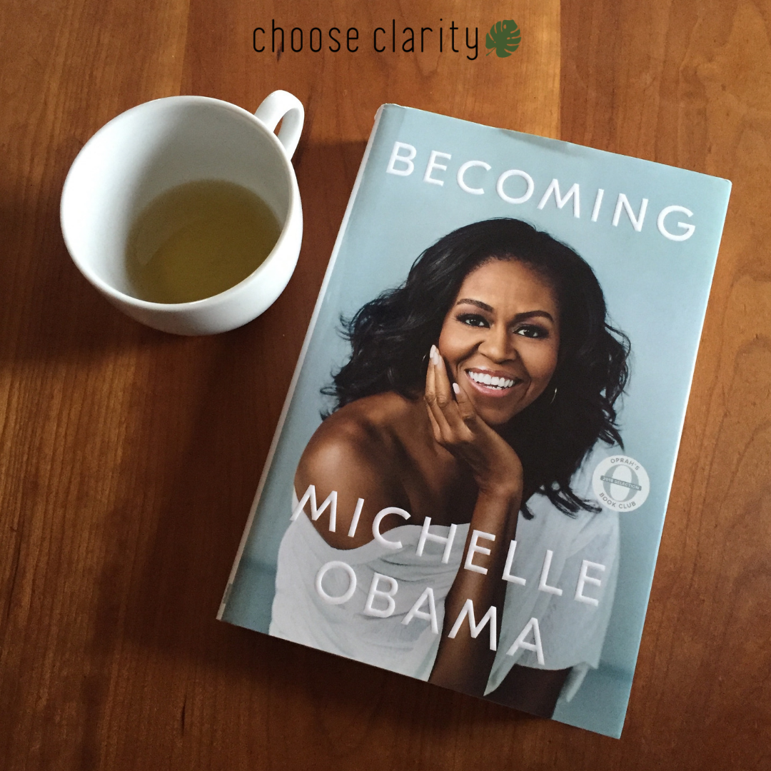 "- As I read ""Becoming"" I felt Michelle Obama's pain. She was an accomplished professional when her second daughter was born. She started pondering the idea of staying at home with her children and then a job offer came from the University of Chicago Medical Center. She says: ""I debated whether to even send in my resume. It sounded like a great opportunity, but I'd just basically talked myself into the idea that I was—that we all were—better off with my staying home. In any event, this was not a moment of high glamour for me, not a time I could really imagine blow-drying my hair and putting on a business suit. I was up several times a night to nurse Sasha, which put me behind on sleep and therefore sanity."" Raise your hand if you've been there!"