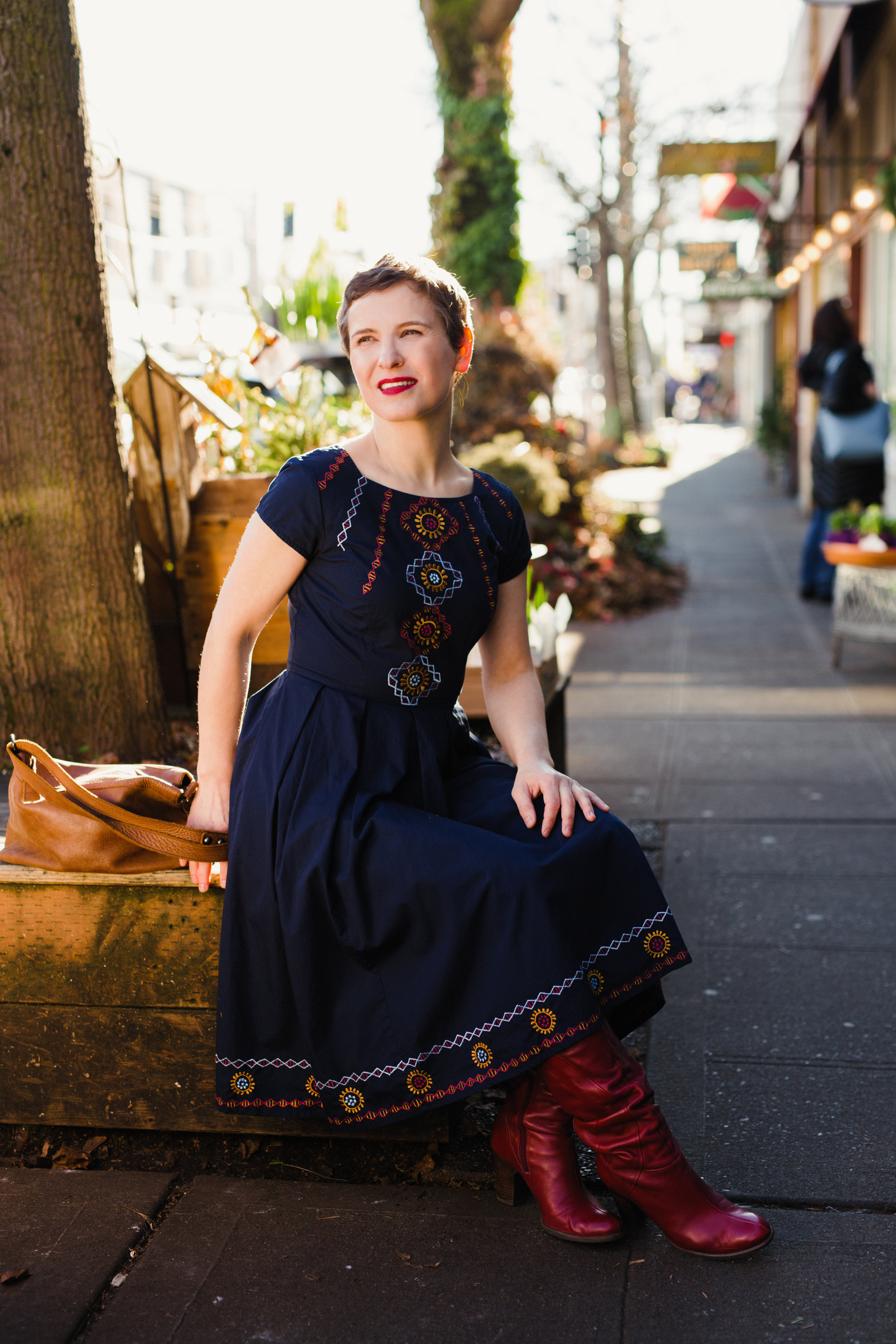 Yup, that dress is thrifted, too! Photo by amazing  Amy Paine .