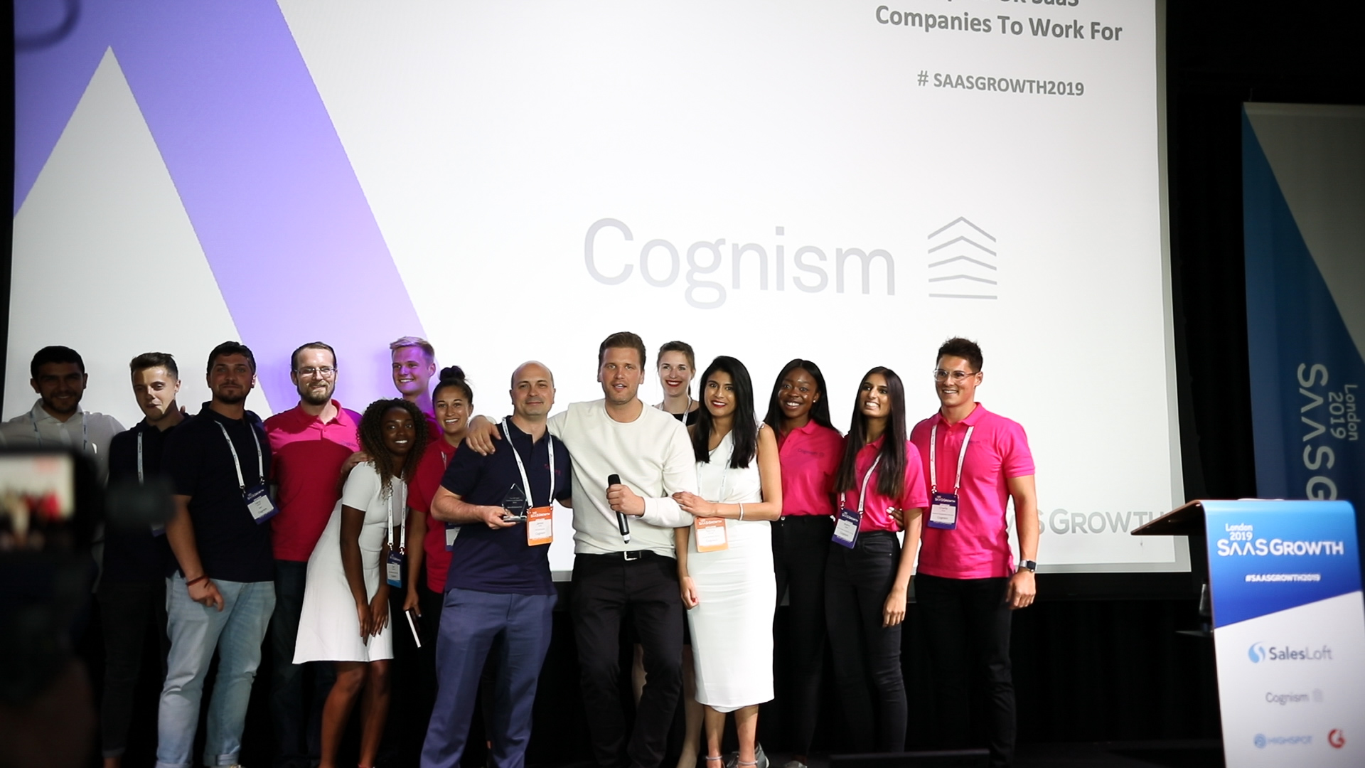 Team Cognism accepts the award!