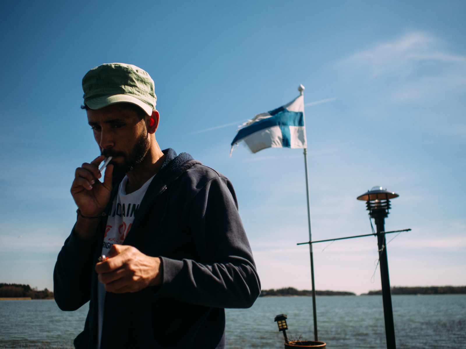 Ihab 27 arrived in Finland in September 2015. Like thousands of other people he crossed the Greek sea and then walked up all the Balcan route. He spent the last year and a half in Turkey, where he tried to apply for asylum without success. Ihab had to flee Baghdad in 2013 after he was life threatened at the magazine where only few months before he started to work. His family moved to India some time later, and is now applying for asylum there.