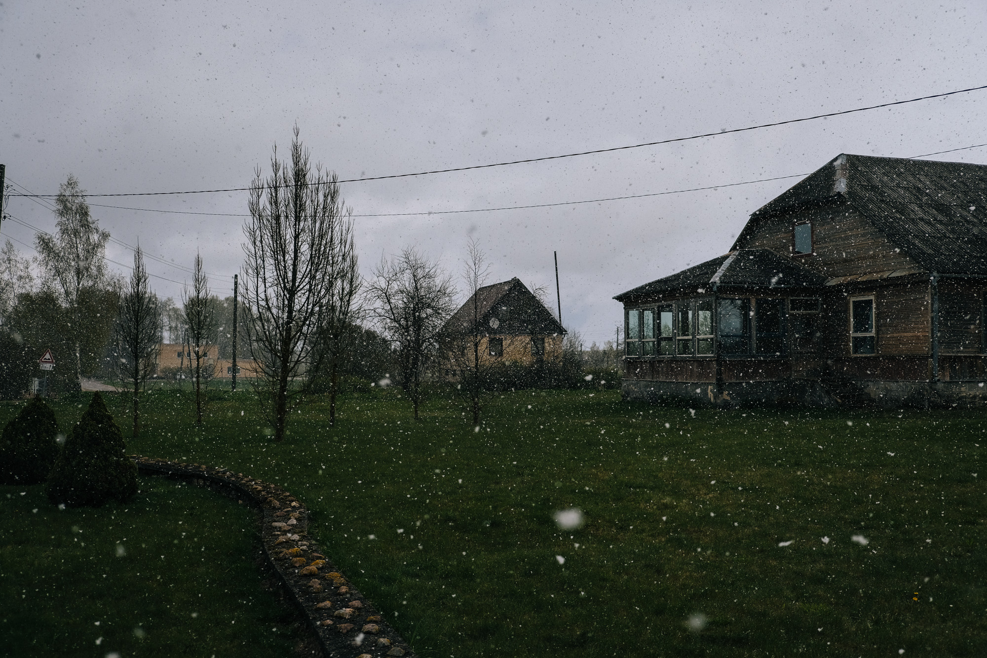 Kalupe - Latgale. The village, like the region, has been suffering from the high emigration rates. Many of the buildings and houses in the village are no more in use.