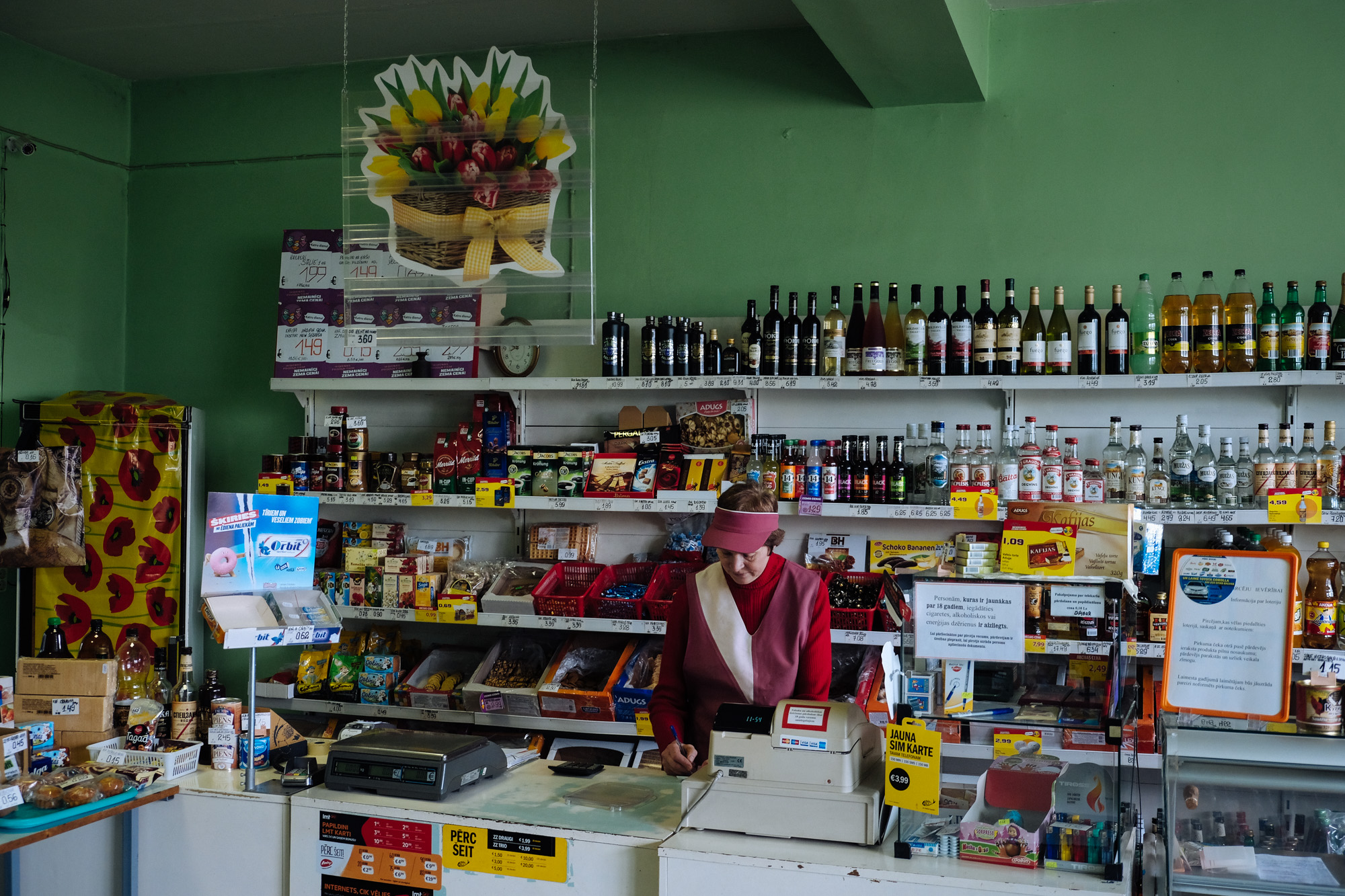 Dubulti village - In the former Kolkhoz only few people live nowadays. Aija 58, have lived all her life in the village and now works in the only shop of the village. In the majority of the small villages, the grocery store is the only shop available.