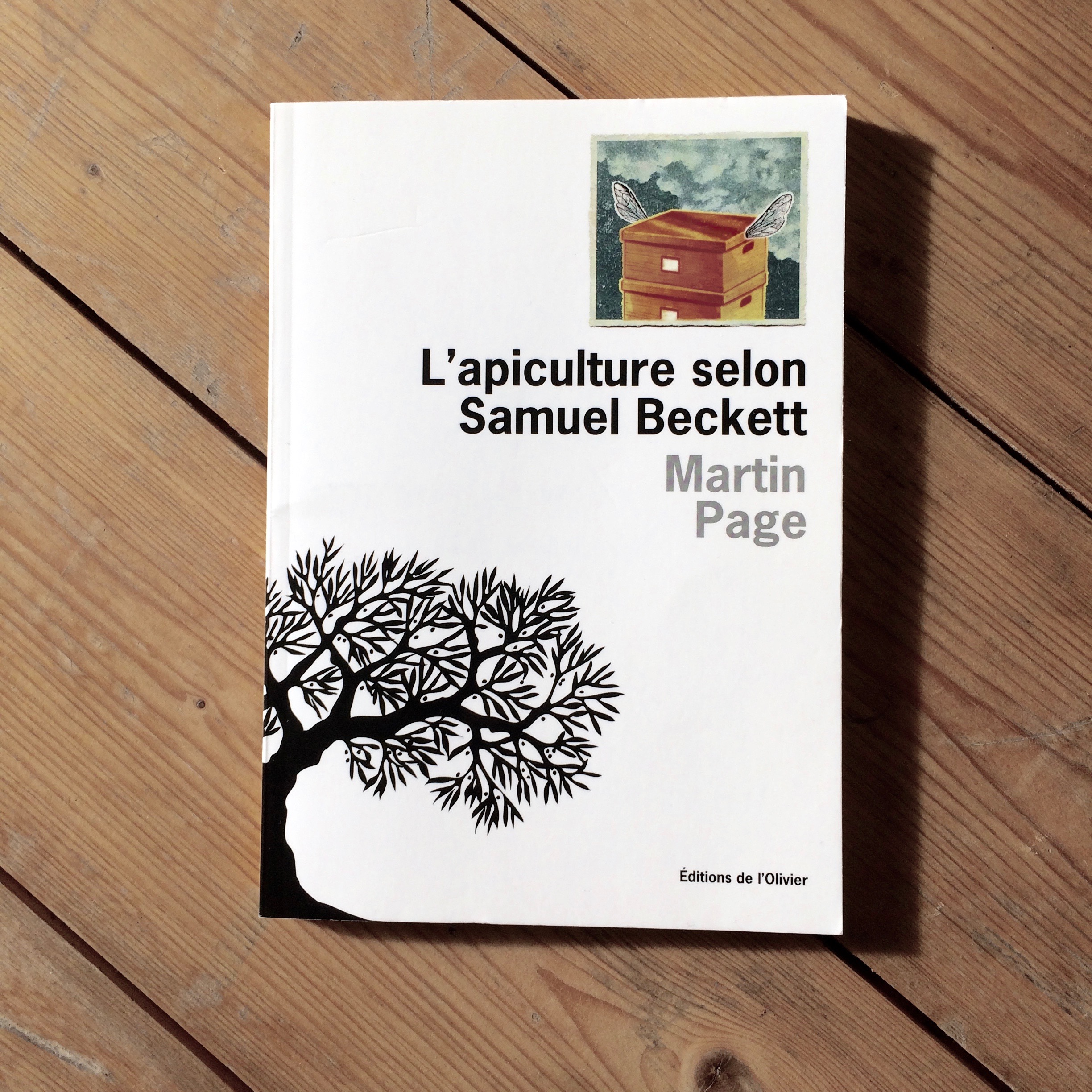 Title:  Beekeeping with Samuel Beckett   Author: Martin Page  Year of publication: 2013  Pages: 96  Publisher: Éditions de l'Olivier (France)  World English rights available.