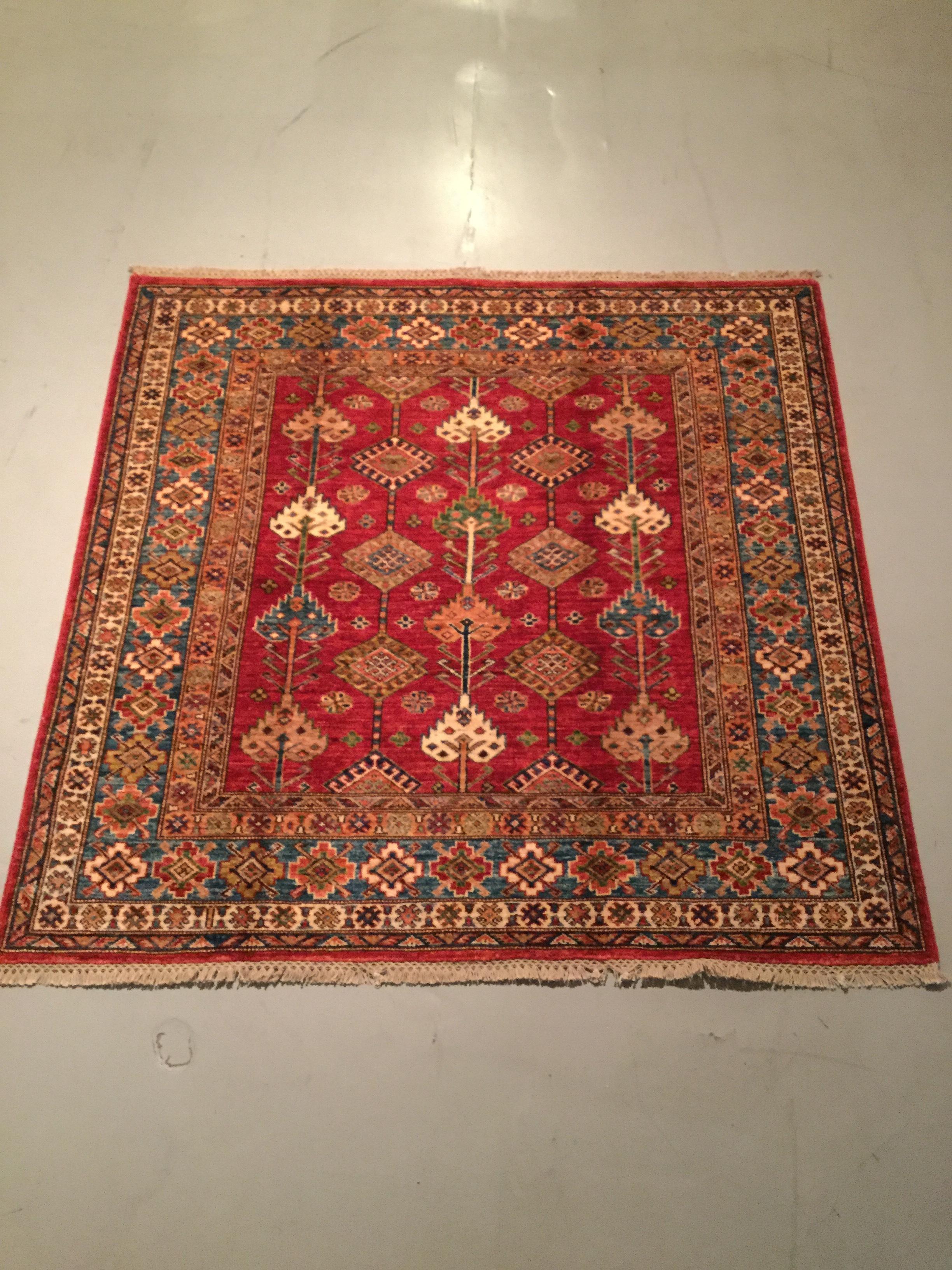 Afghan Kazak - Circa 2000's    Size Measurements: 148cm x 149cm