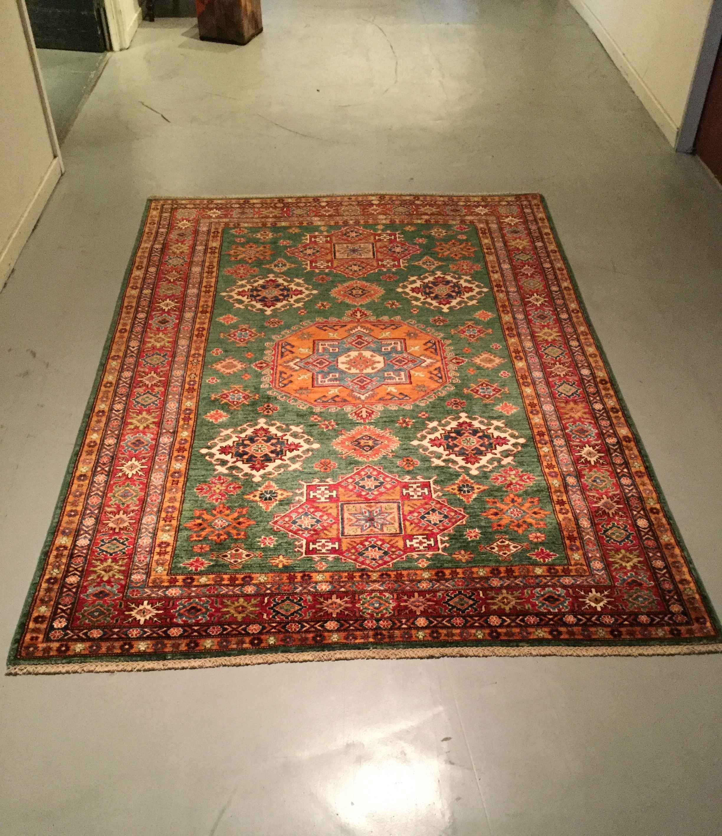Afghan Kazak - Circa 2000's    Size Measurements: 244cm x 172cm