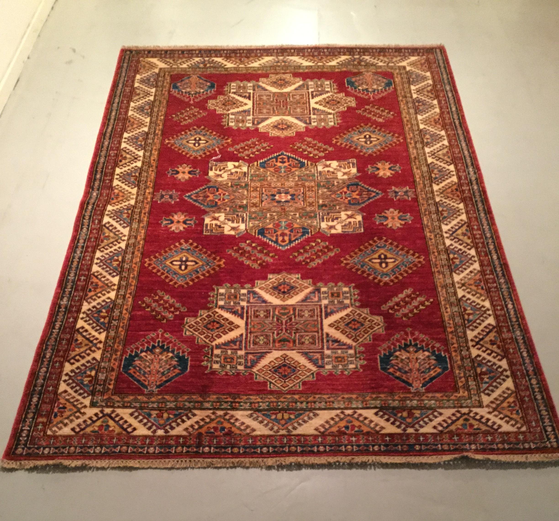 Afghan Kazak - Circa 2000's    Size Measurements: 239cm x 164cm
