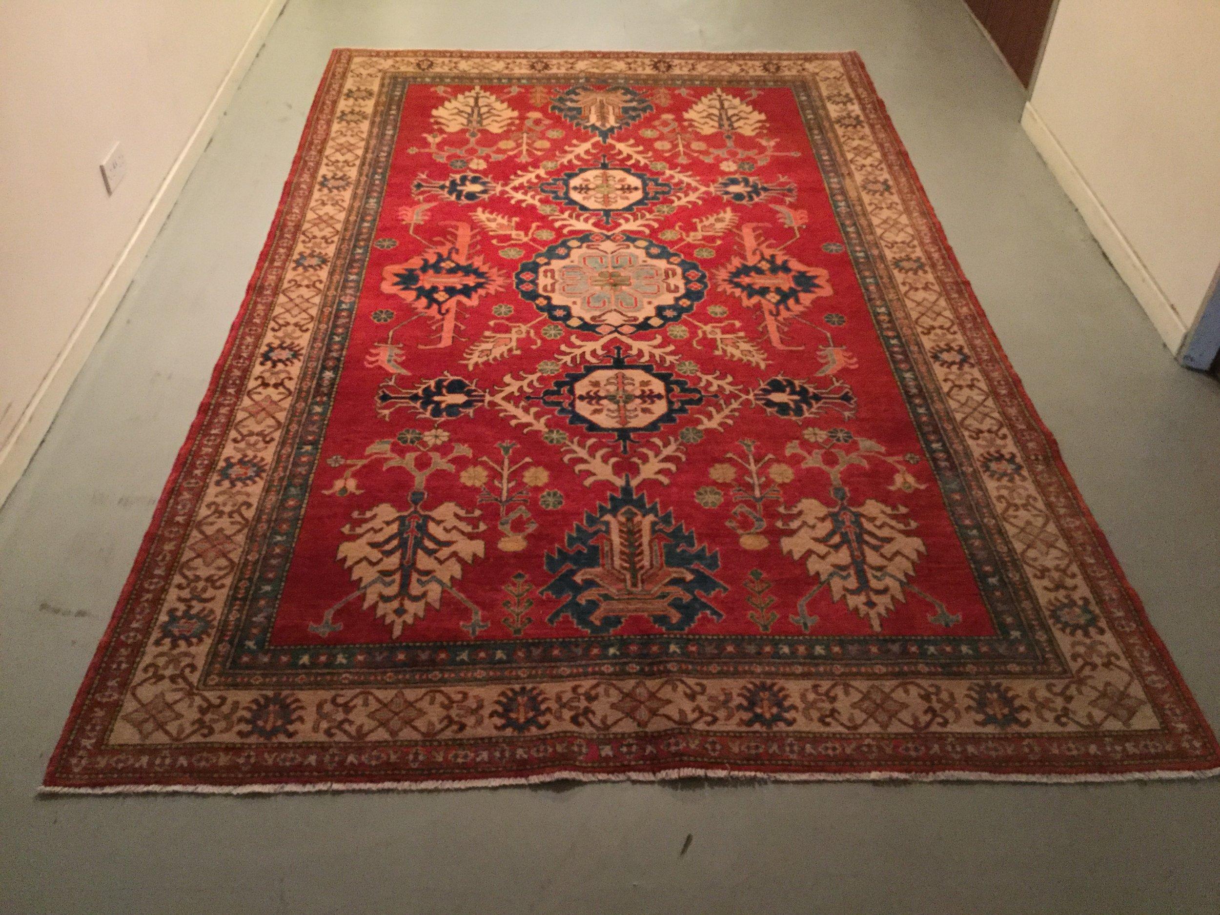 Afghan Kazak - Circa 2000's    Size Measurements: 247cm x 189cm