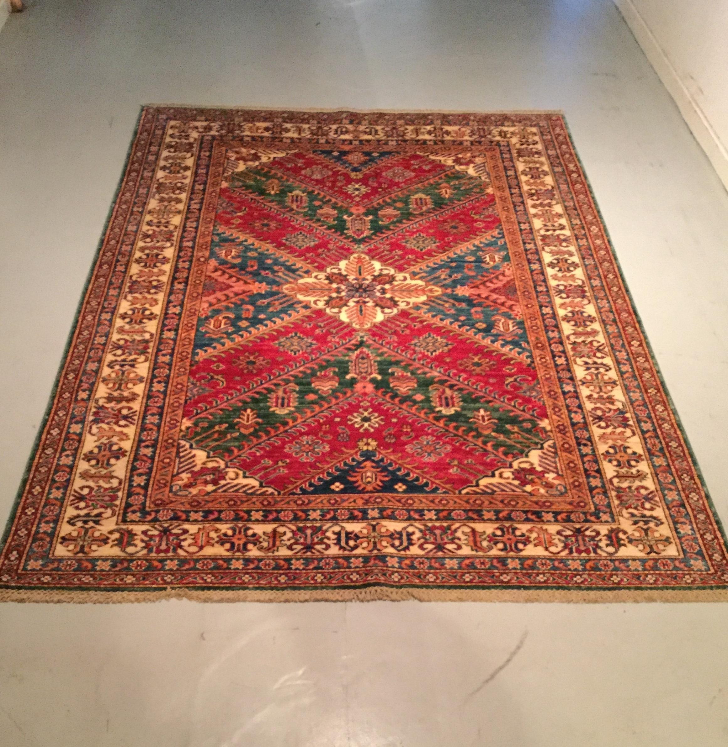 Afghan Kazak - Circa 2000's    Size Measurements: 240cm x 171cm