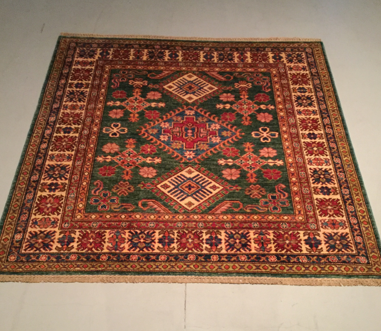 Afghan Kazak - Circa 2000's    Size Measurements: 147cm x 148cm