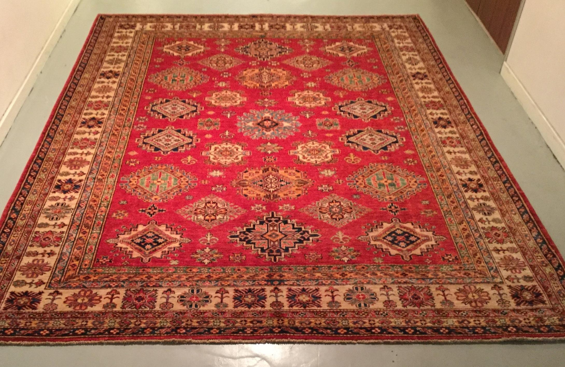 Afghan Kazak - Circa 2000's    Size Measurements: 302cm x 244cm