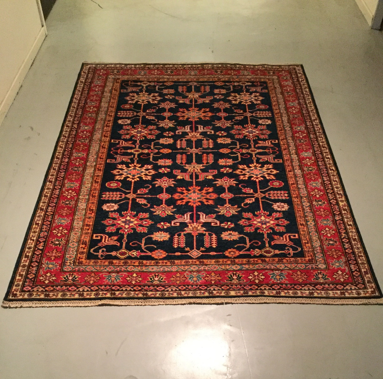 Afghan Kazak - Circa 2000's    Size Measurements: 233cm x 179cm