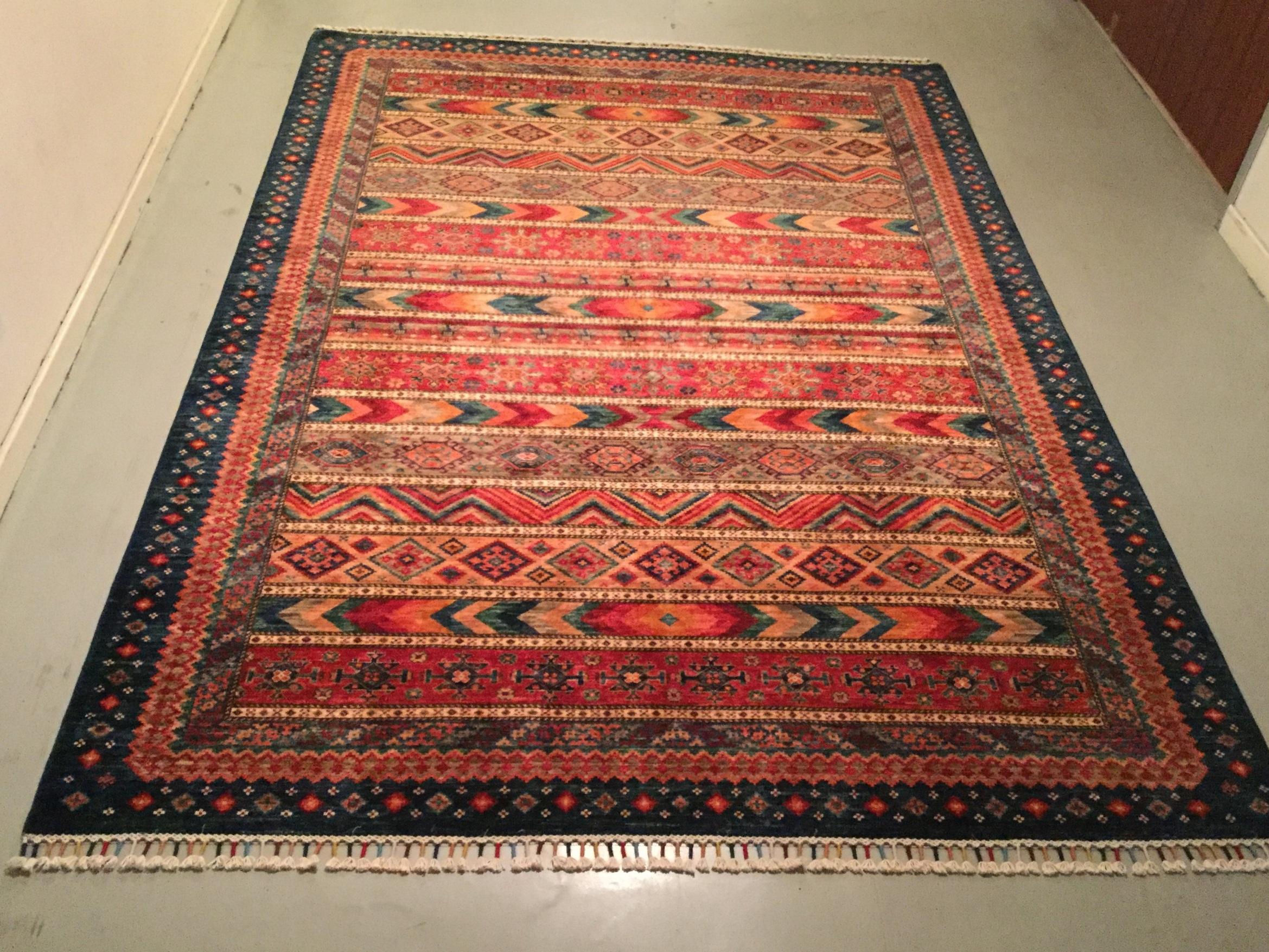Afghan Kazak - Circa 2000's    Size Measurements: 290cm x 205cm