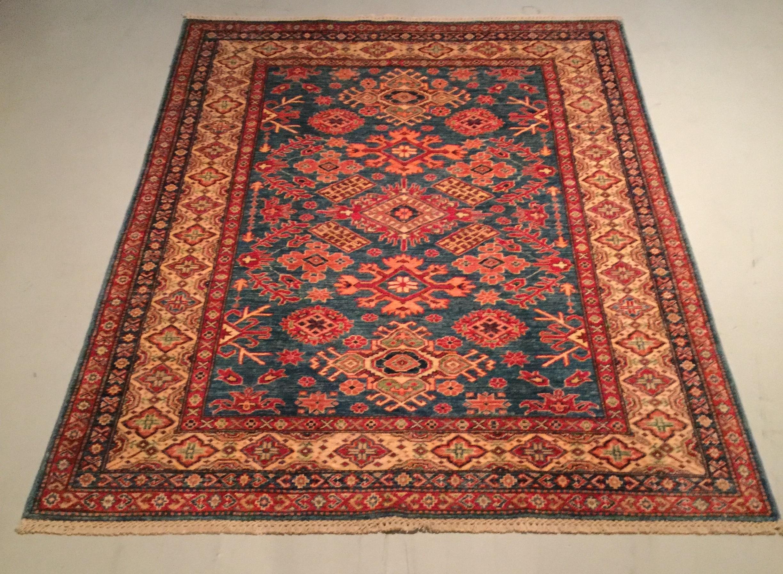 Afghan Kazak - Circa 2000's    Size Measurements: 247cm x 188cm