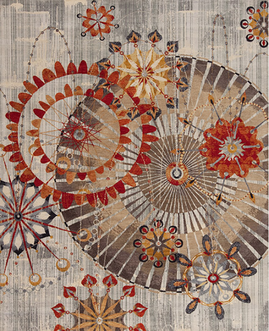 """Rex Ray Hollister (Ivory) - With the collaboration between master weavers in India and the acclaimed artist Rex Ray, this lively collection houses some of our most imaginative and dynamic designs.Rex Ray rugs are made with fine wool hand knotted in Jaipur, India by master weavers.Bursting with colour and energy, Rex Ray's work is eye-catching and identifiable whether seen on museum and gallery walls, in a stylish restaurant or boutique hotel. Drawing inspiration from the mid-century modernist style, Rex Ray Rugs are simply """"art for the floor.""""Available Sizes: 4×6, 6×9, 8×10, 9×12 and 10×14."""