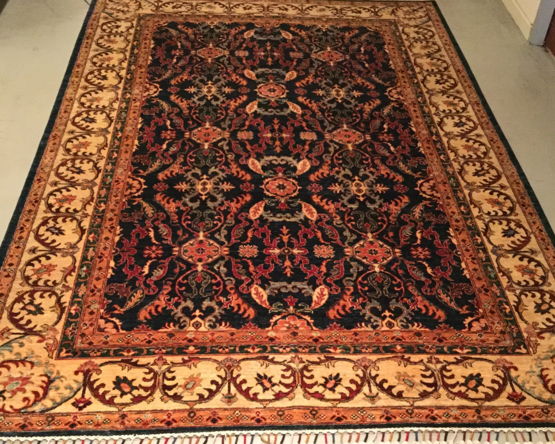 Afghan Zieglar - Circa 2000'sSize Measurements: 294cm x 210cm