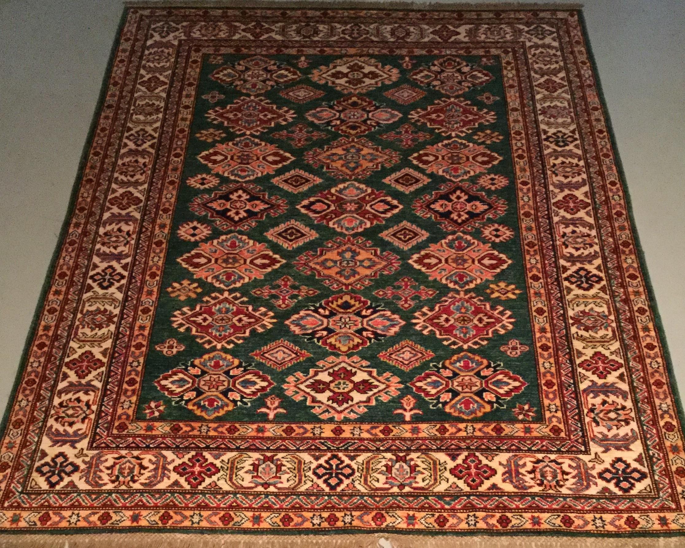 Afghan Kazak - Circa 2000'sSize Measurements: 190cm x 150cm