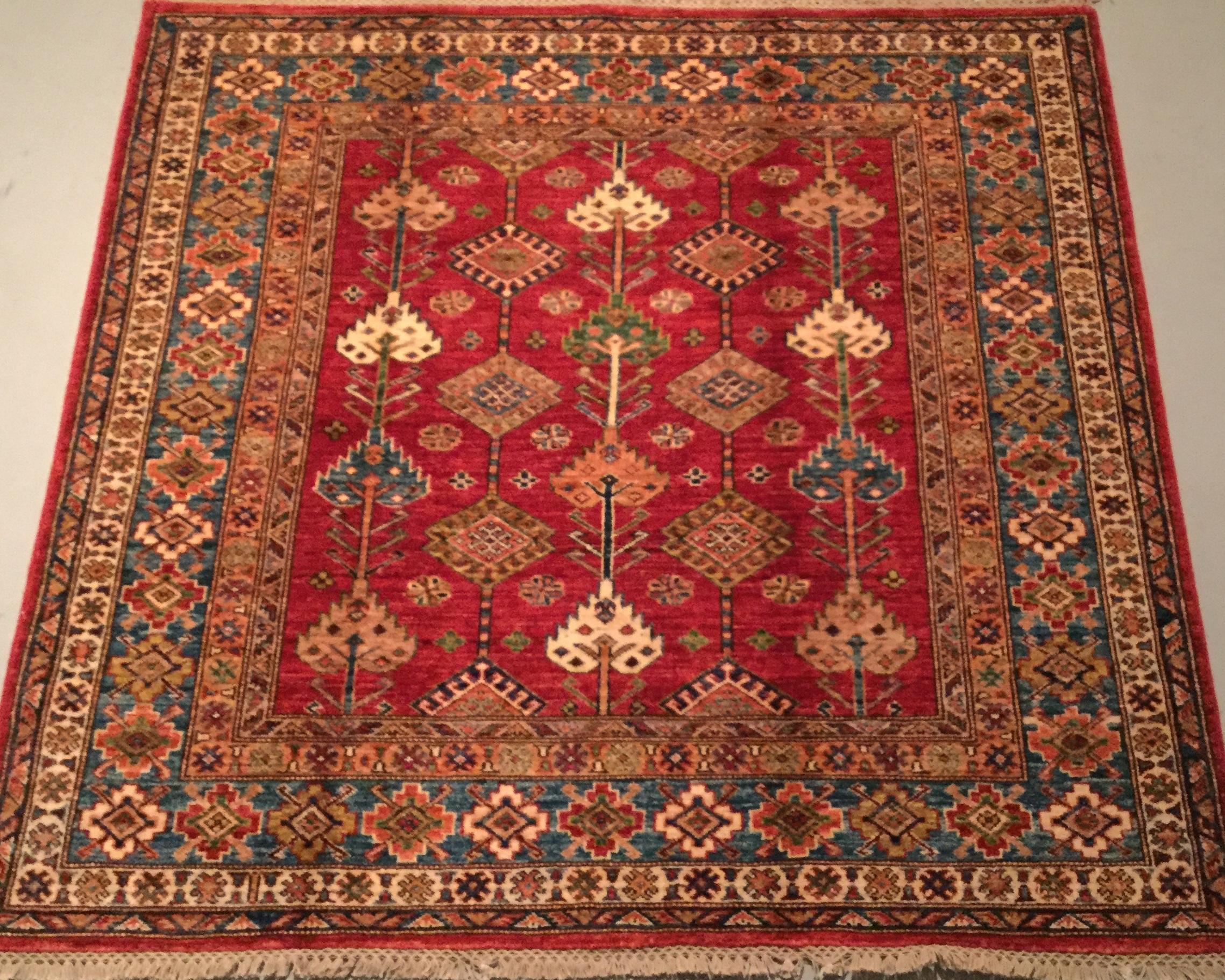 Afghan Kazak - Circa 2000'sSize Measurements: 148cm x 149cm